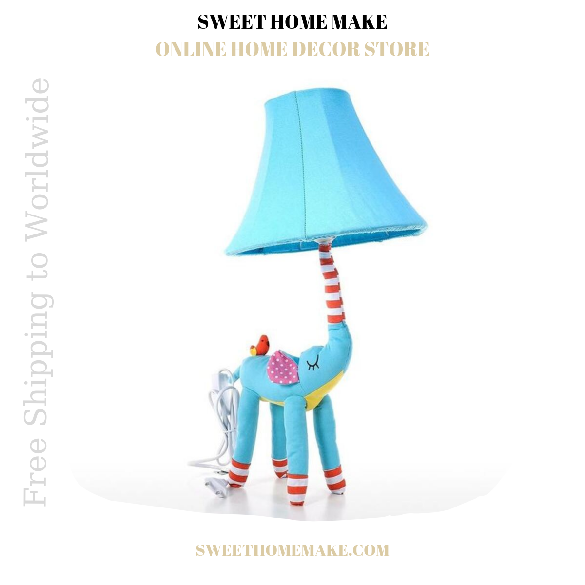 Elephant Nursery Lamp For Night Light and Table Lamp
