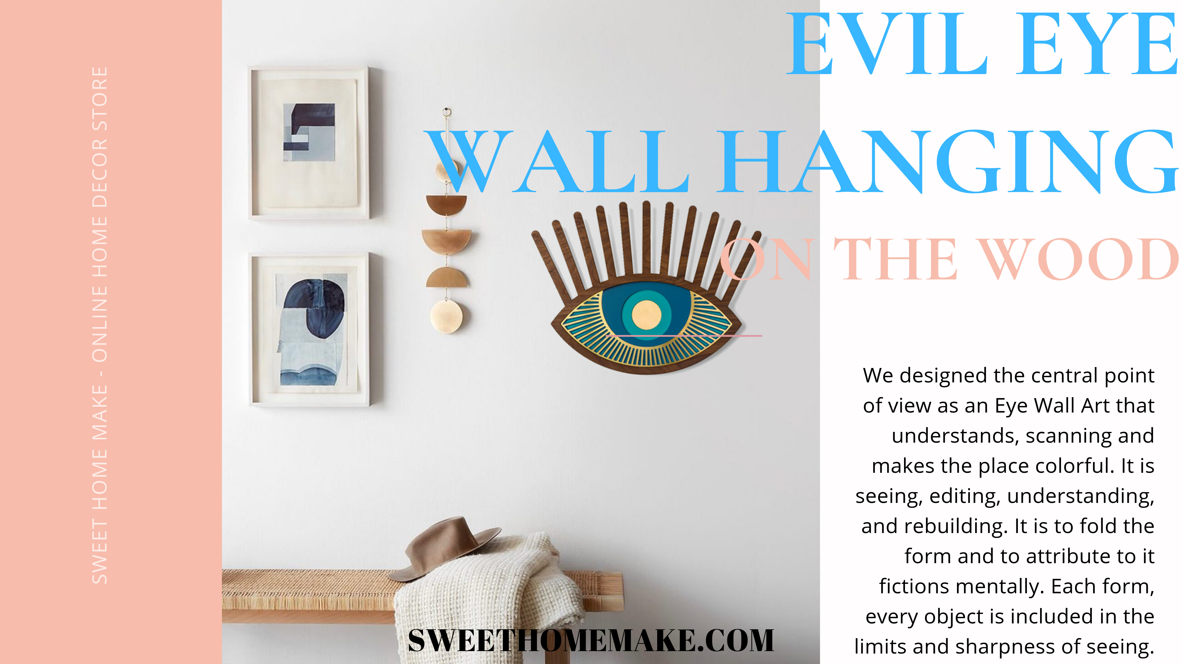 Evil Eye Wall Hanging Decorative Items