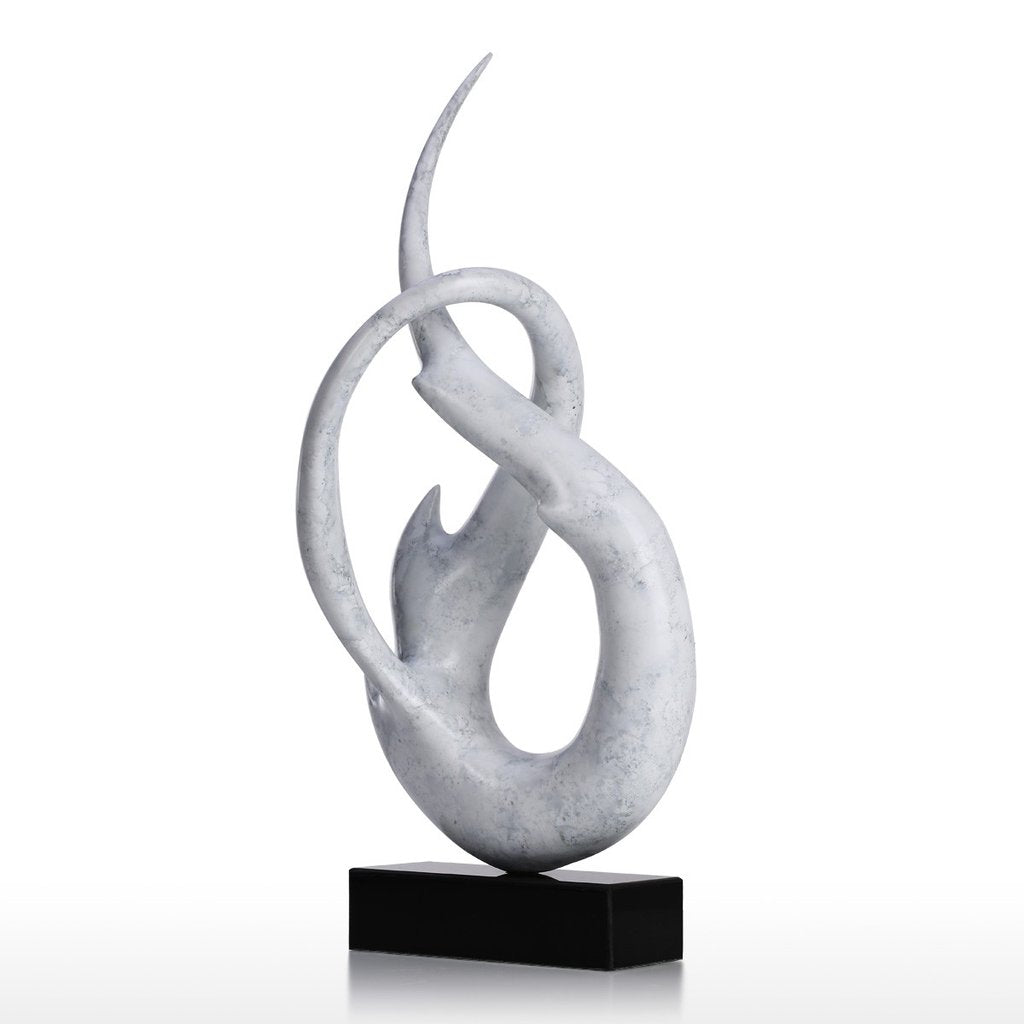 Figurative Sculpture and Art Deco Sculpture with Resin White Sculpture