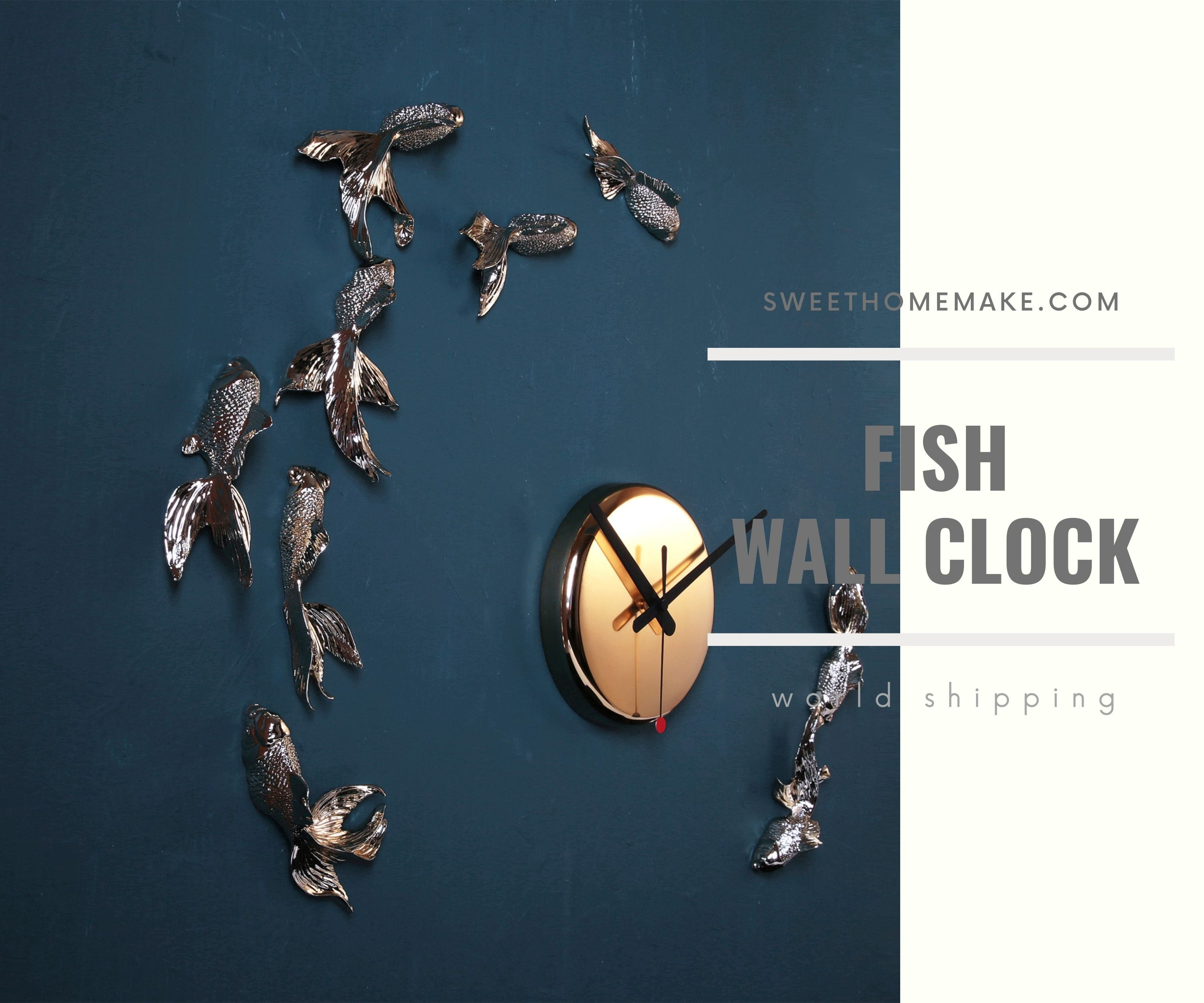 Fish Wall Clock and time remind us to be planned and stylish