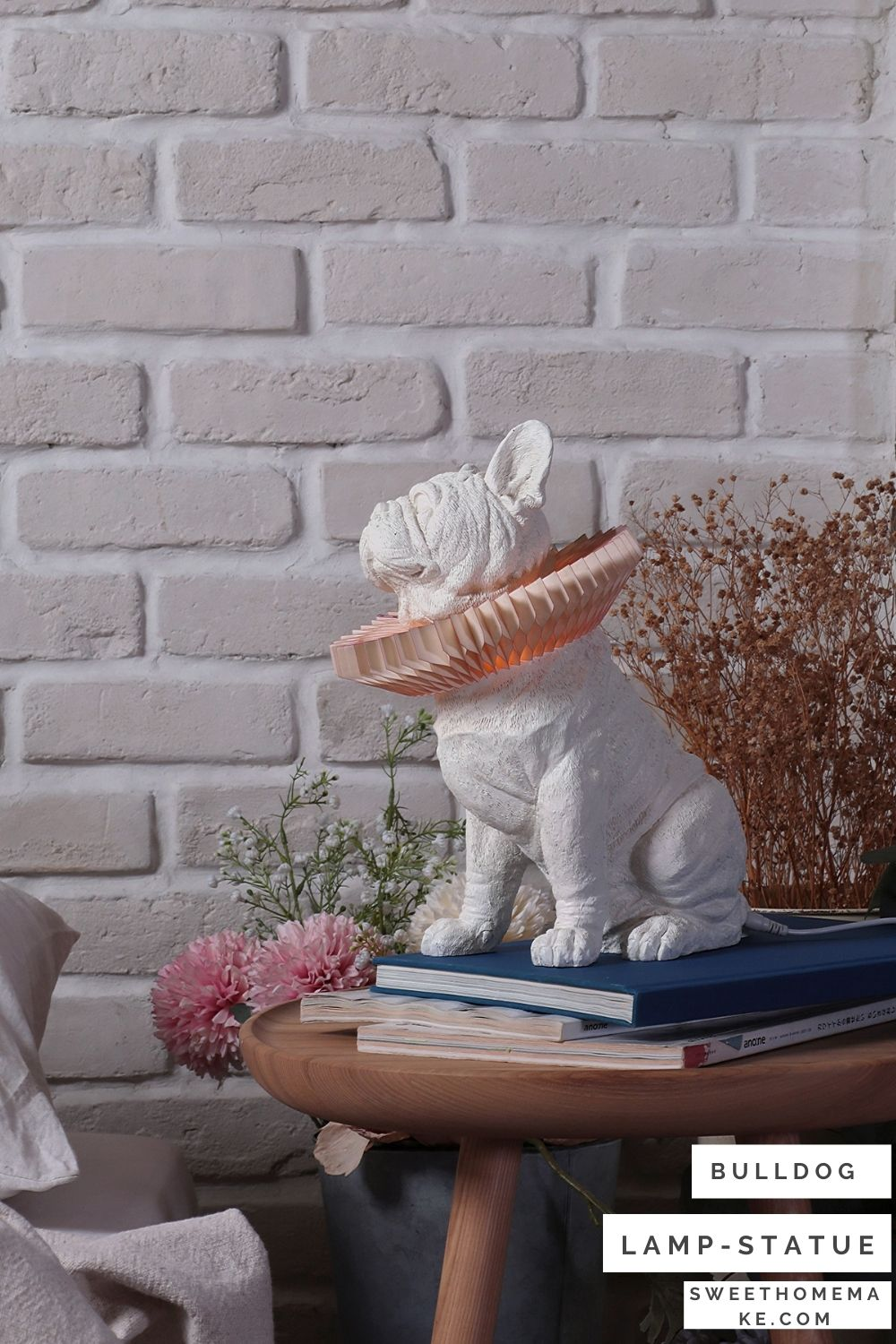 French bulldog table lamp brings nature into your living spaces
