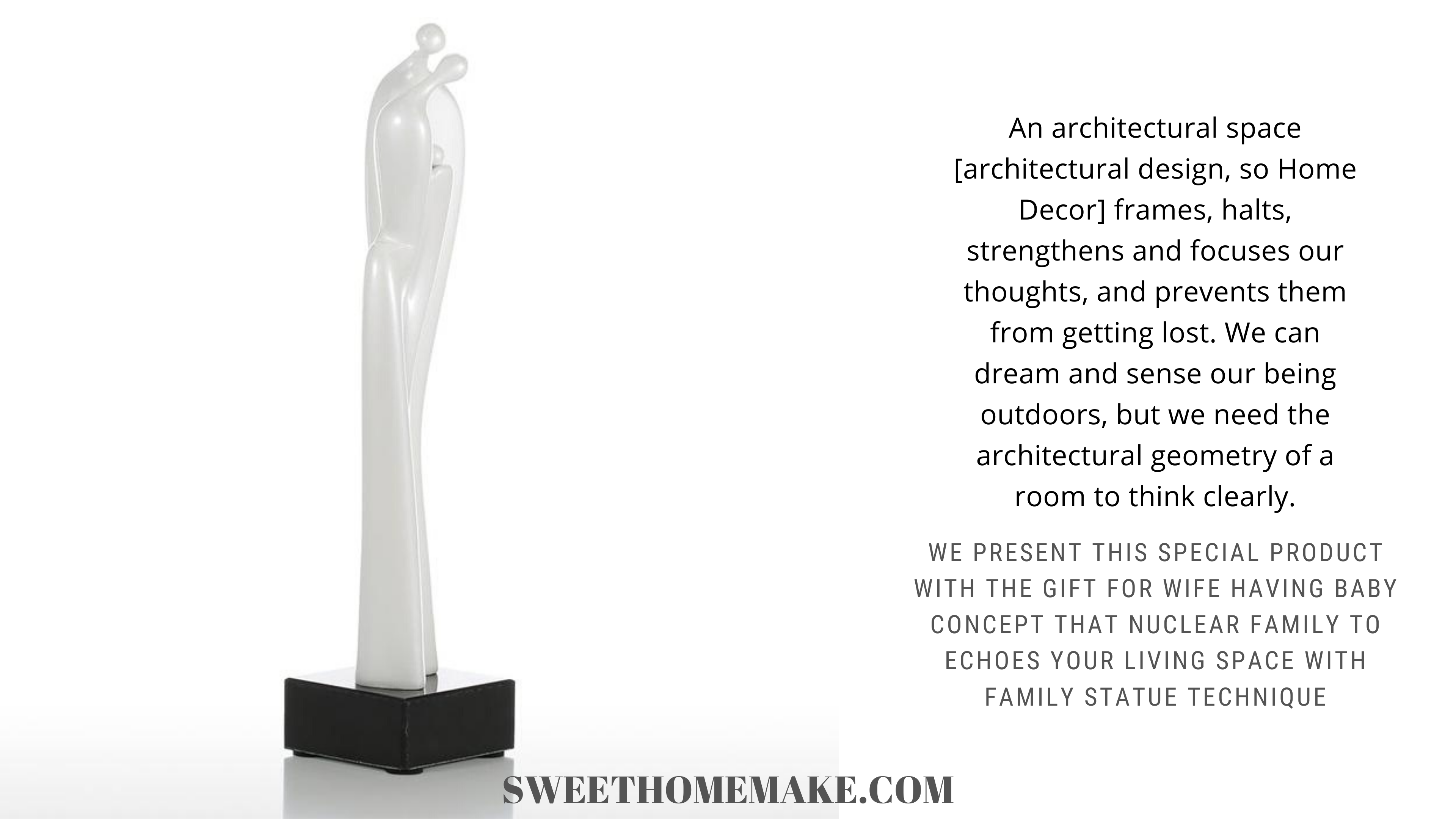 Gift for Wife Having Baby Reflect your Story to Breathing & Living Space by Family Sculpture