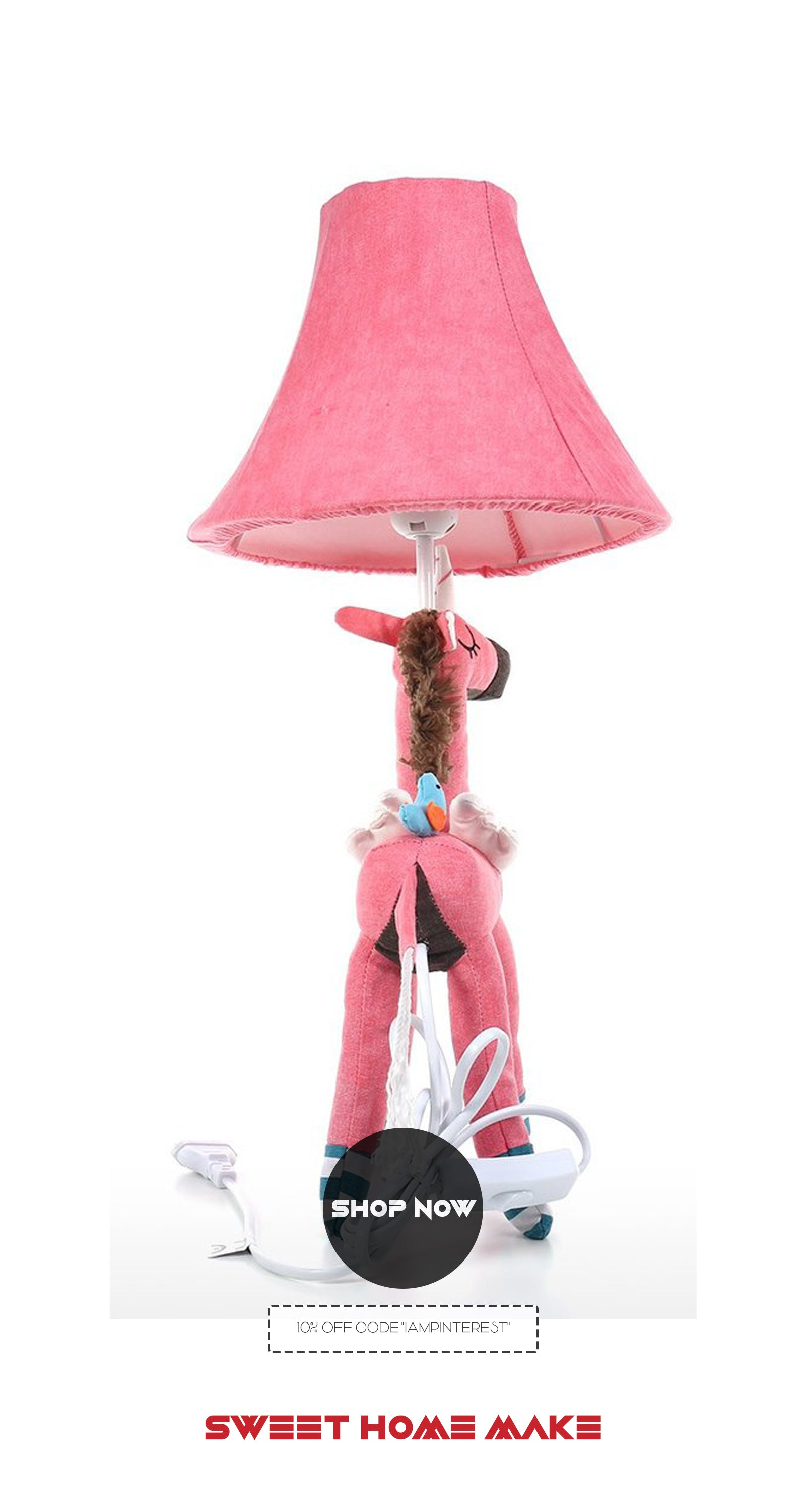 Girls Bedside Lamp with Unicorn Toy For Girls Bedroom Decor