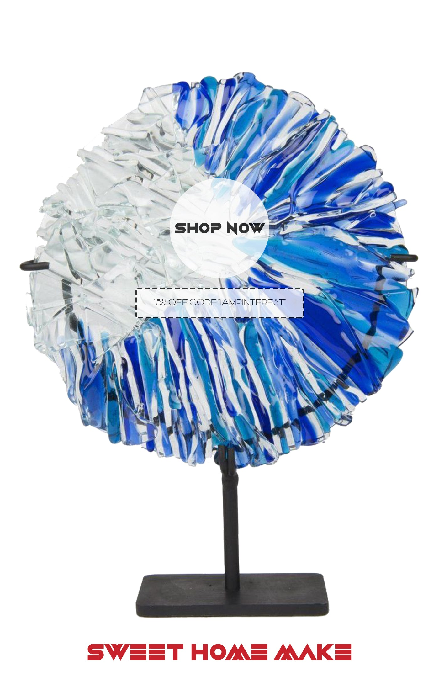 Glass Sculpture as Home Decor Store