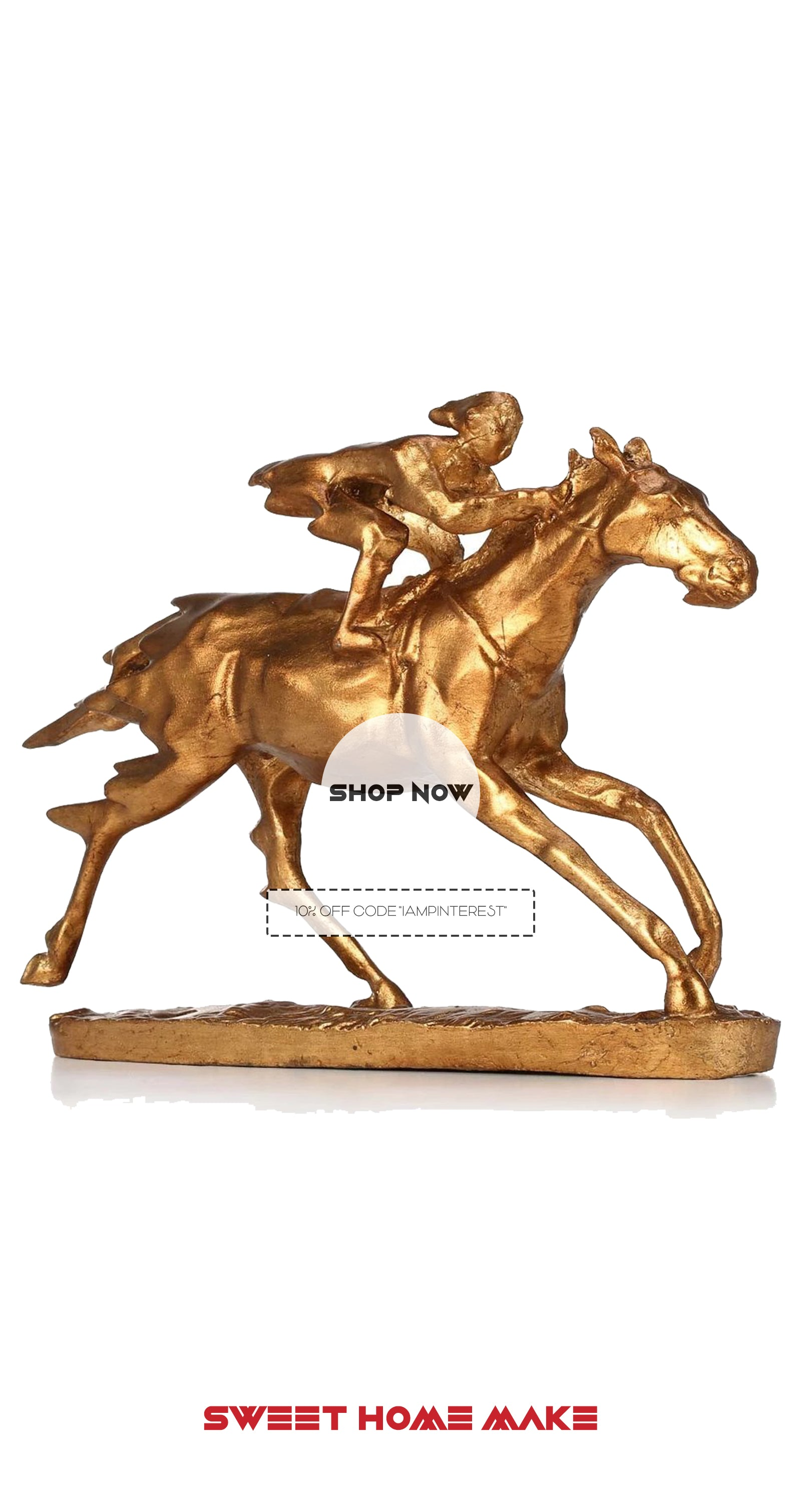 Gold Horse Statue For Horse Decor