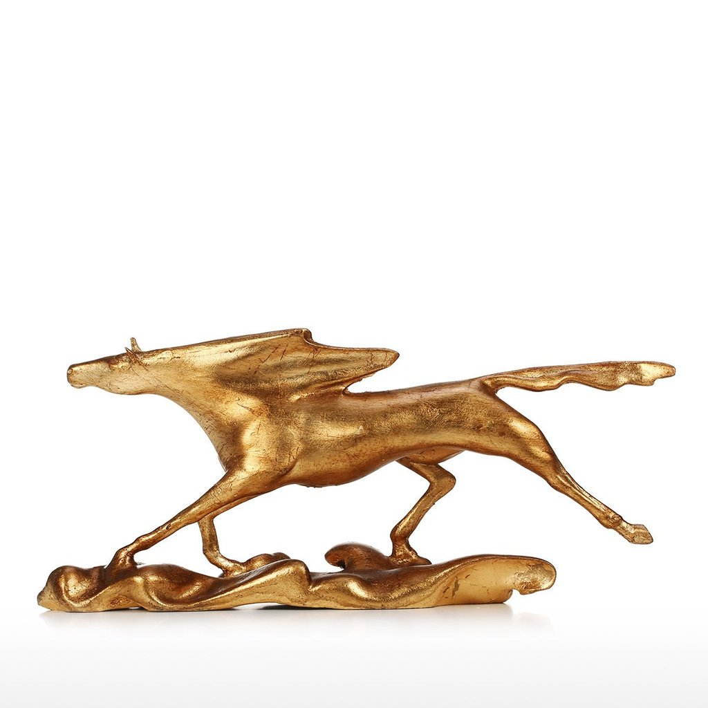 Gold Horse Statue and Metal Horse Statue