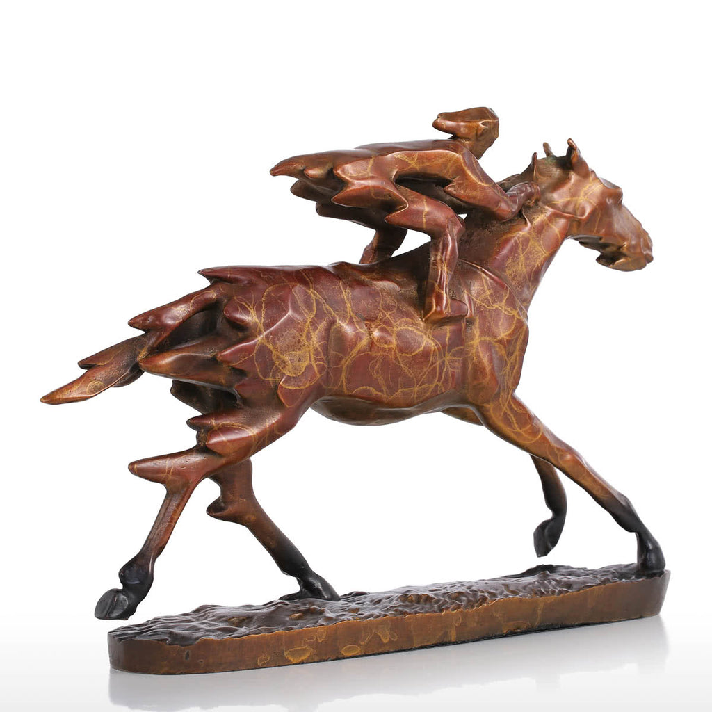 Gold Horse Statue and Race Horse Statue
