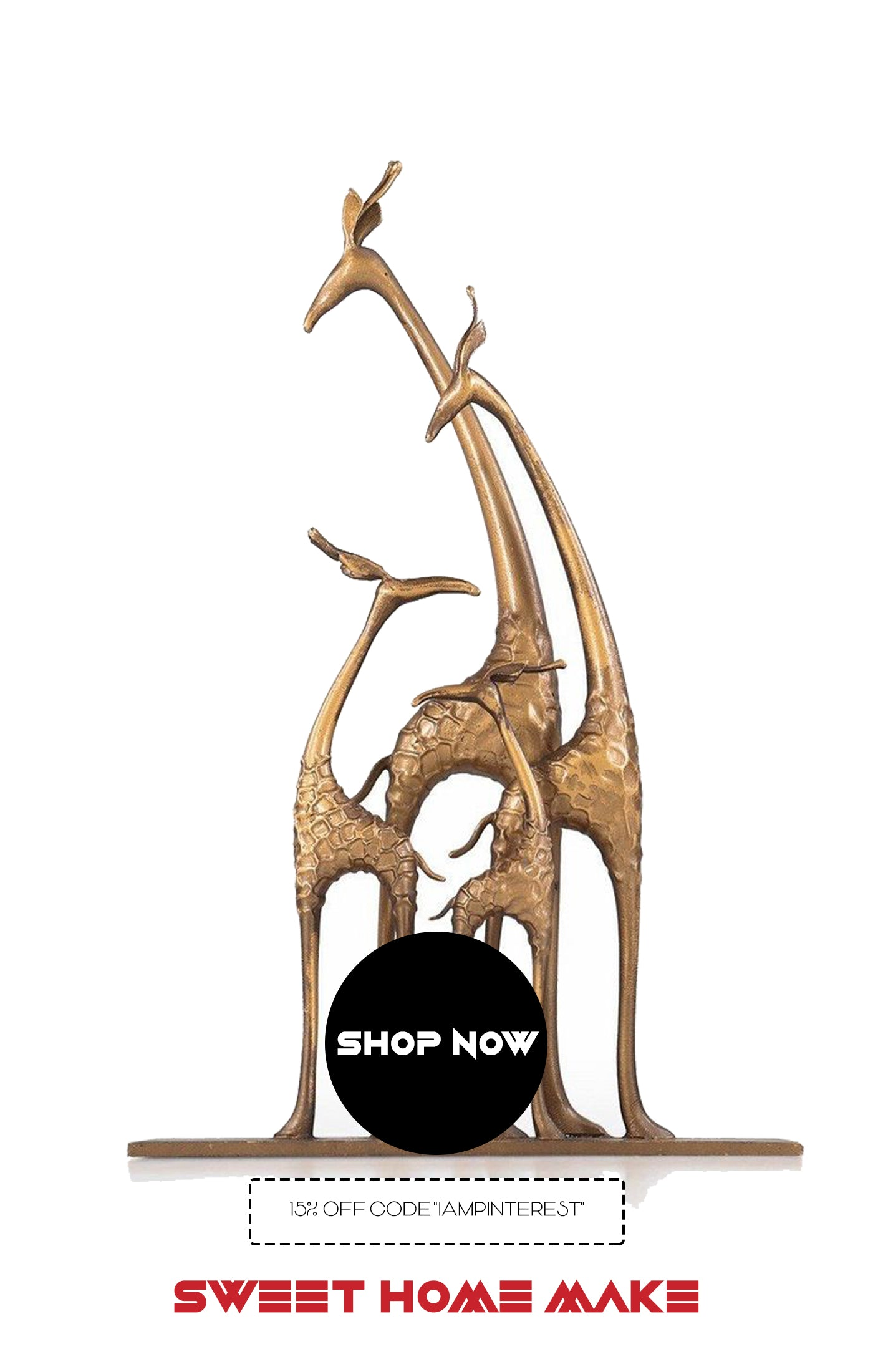 Home Decor Store with Giraffe Statue Ornaments