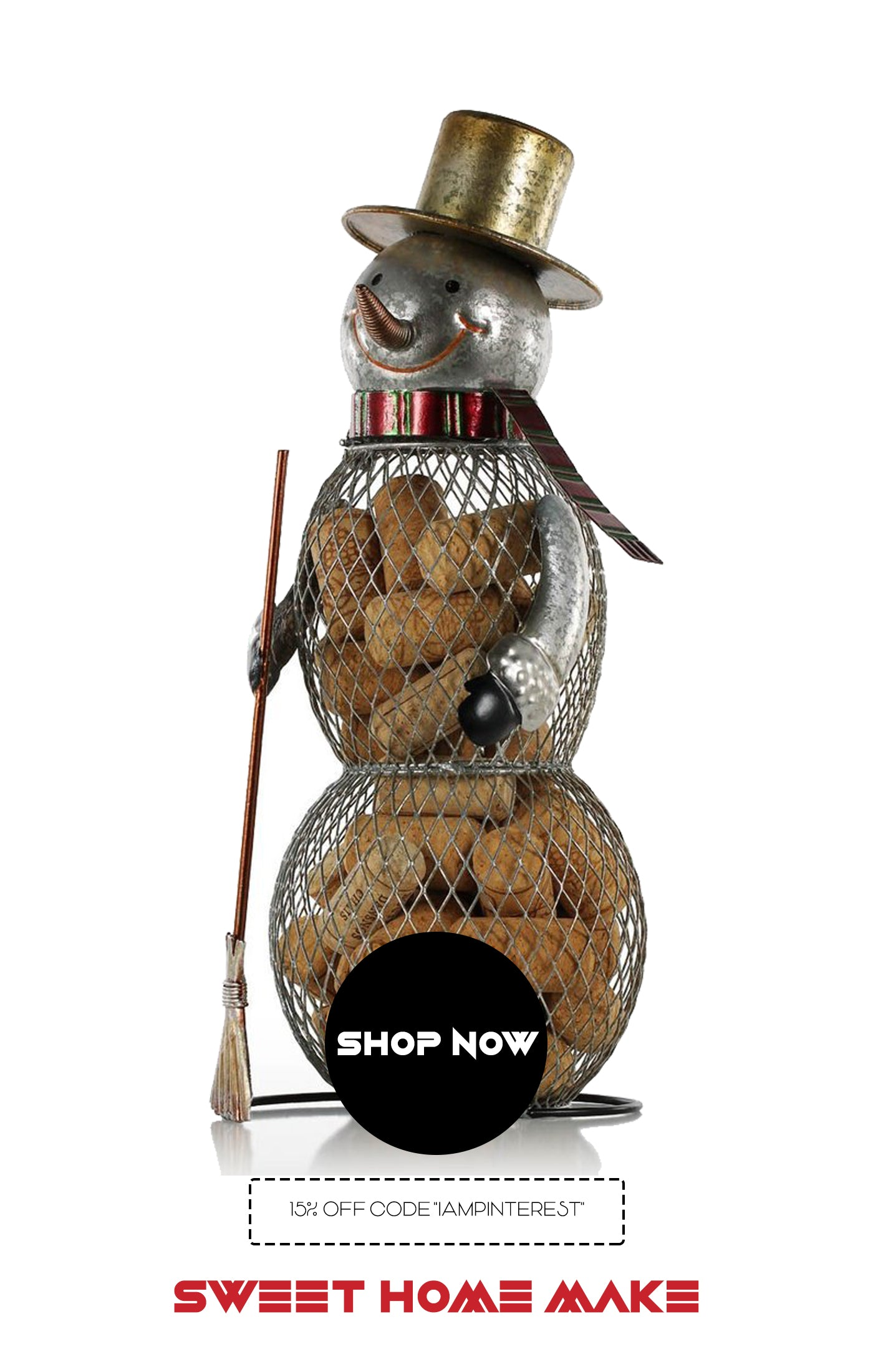 Home Decor Store with Snowman Metal Sculpture