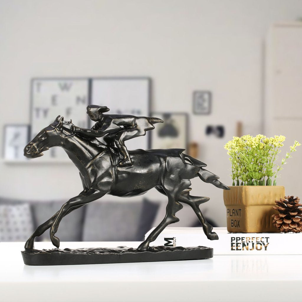Horse Statue Home Decor with Horse Jumping and Horse Training with Riding