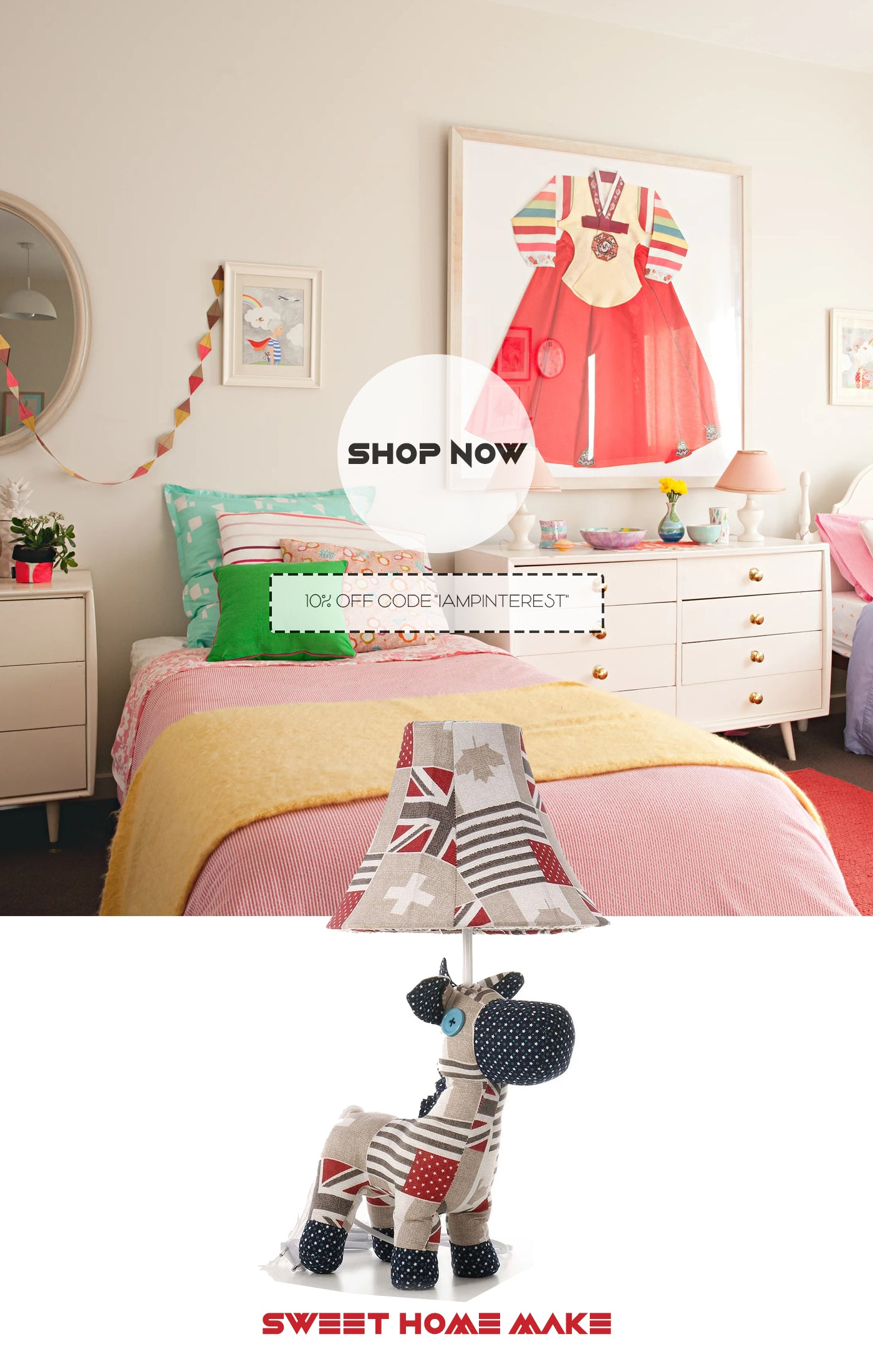 Horse Toys with Table Lamp For Kids and Nursery Room Decor