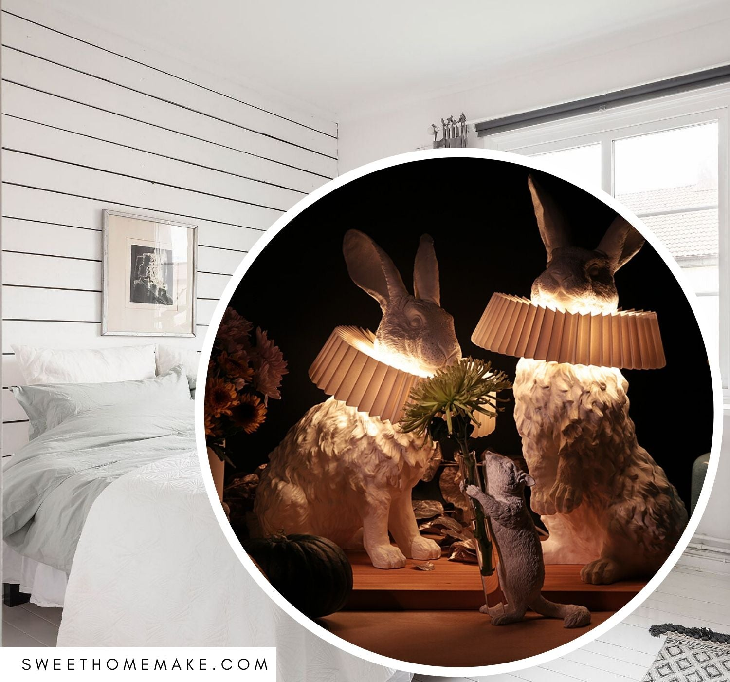 Picture of: Kanin Lampe Sovevaerelse Inspiration The Sweet Home Make