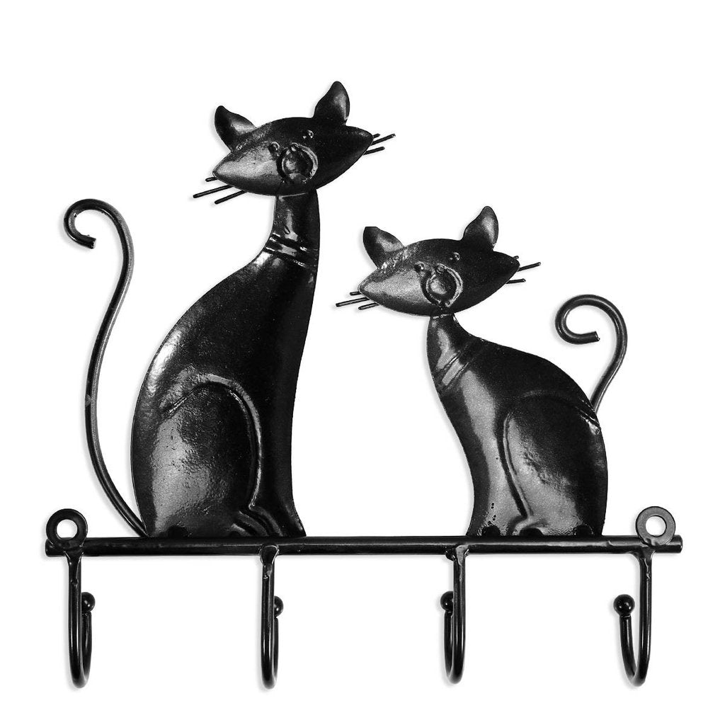 Wall Coat Hooks with Cat