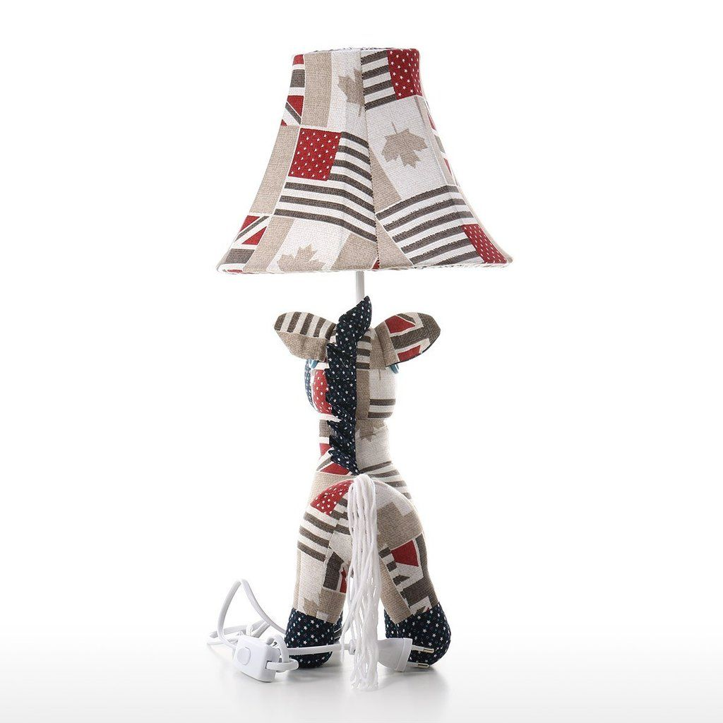 Kids Table Lamp and Nursery Table Lamp with Horse Toys and Plush Toys