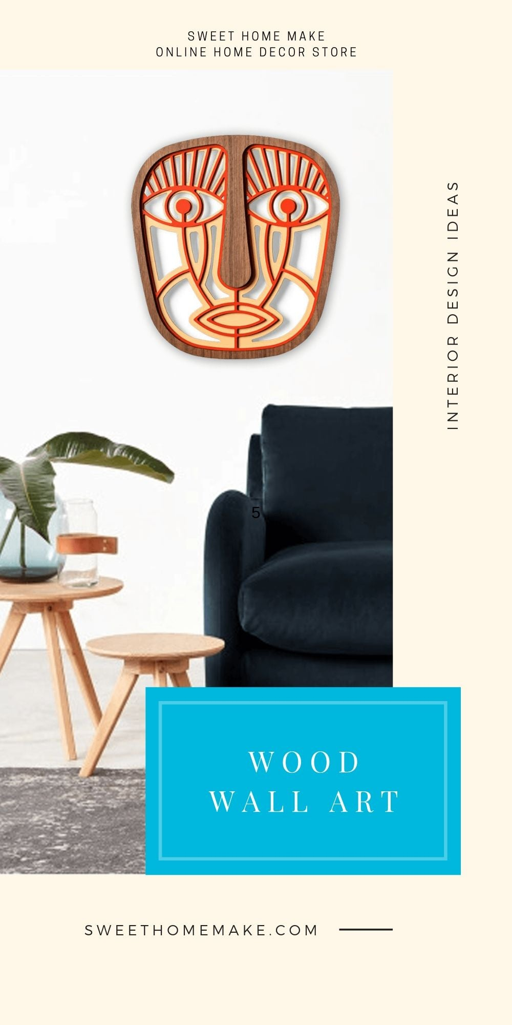 Living Room Wall Decor with Wood Boho Wall Art