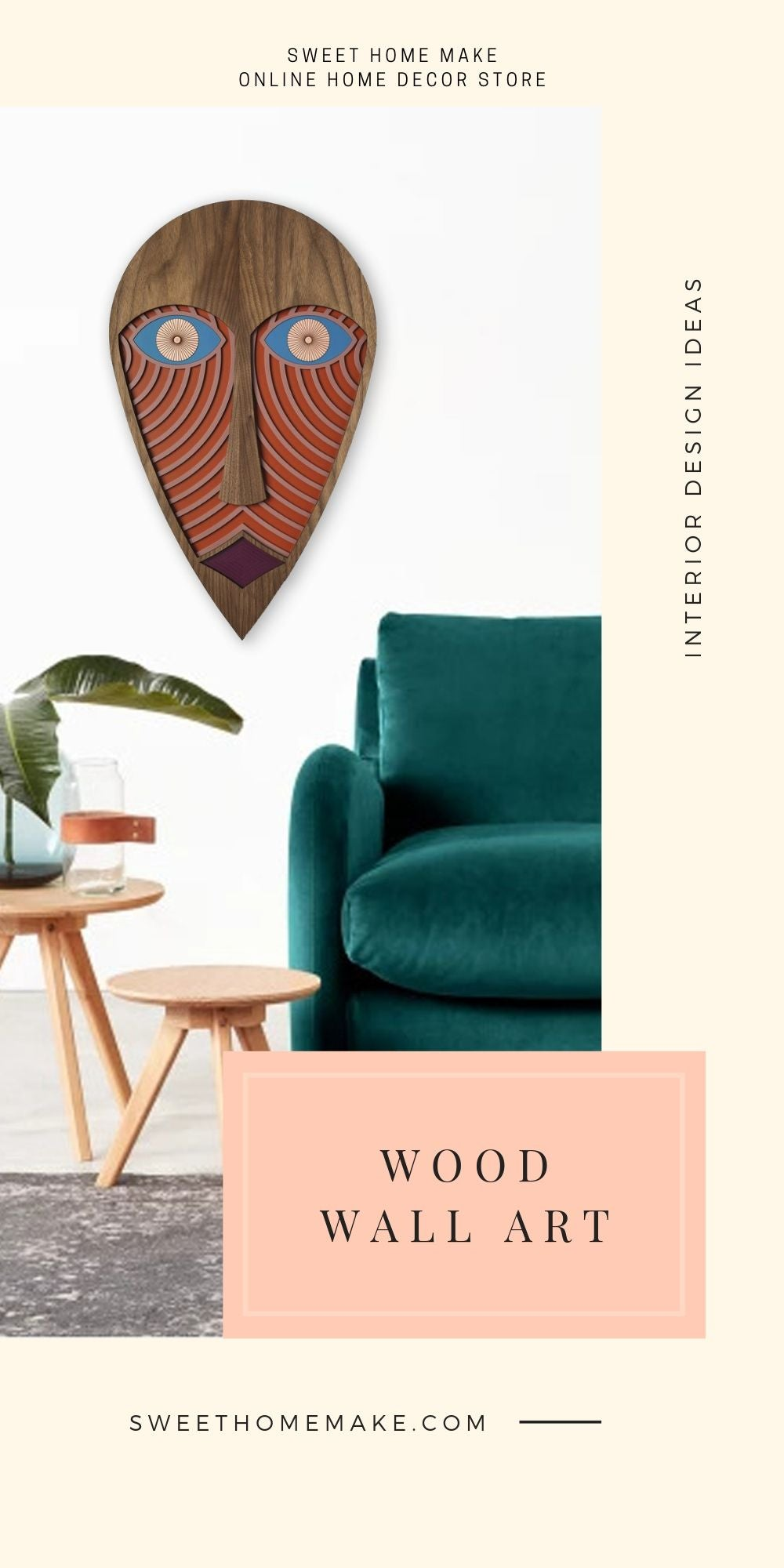 Living Room Wall Decor with Wood Wall Art