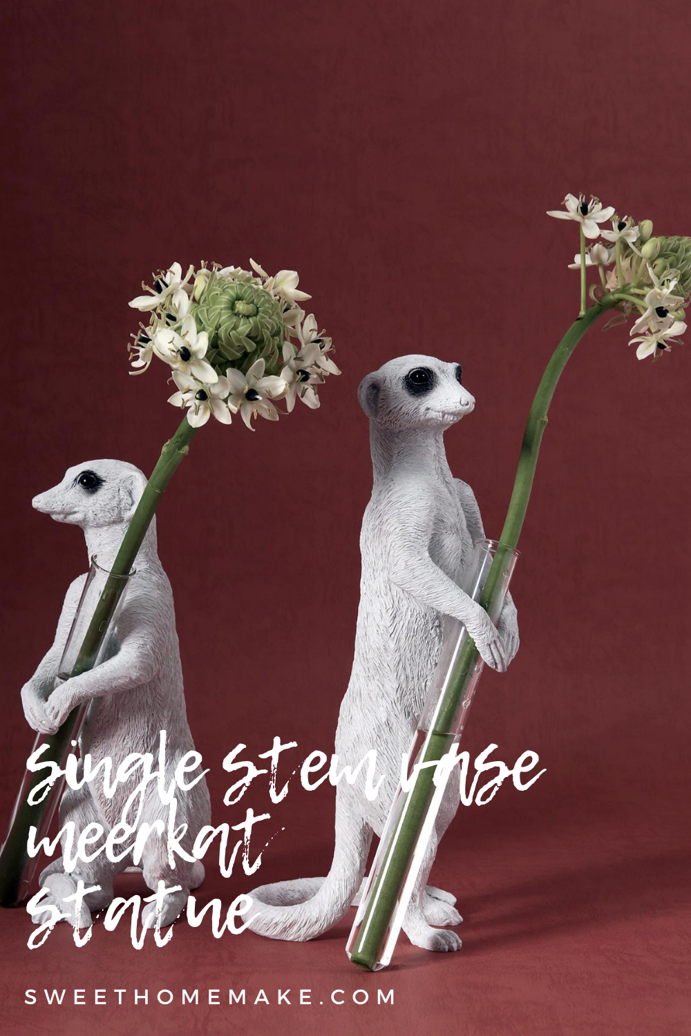 Meerkat Garden Ornaments decorative vases dazzle on the table