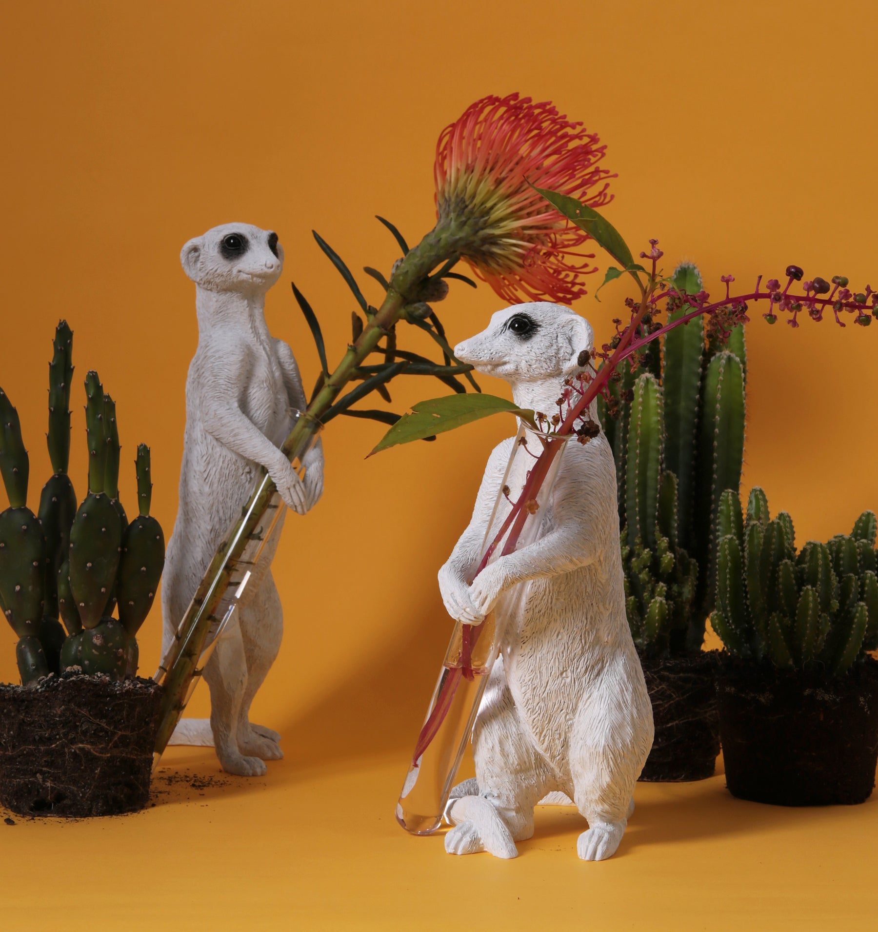 Magnificent Meerkat Ornaments: in vases and sculpture themes