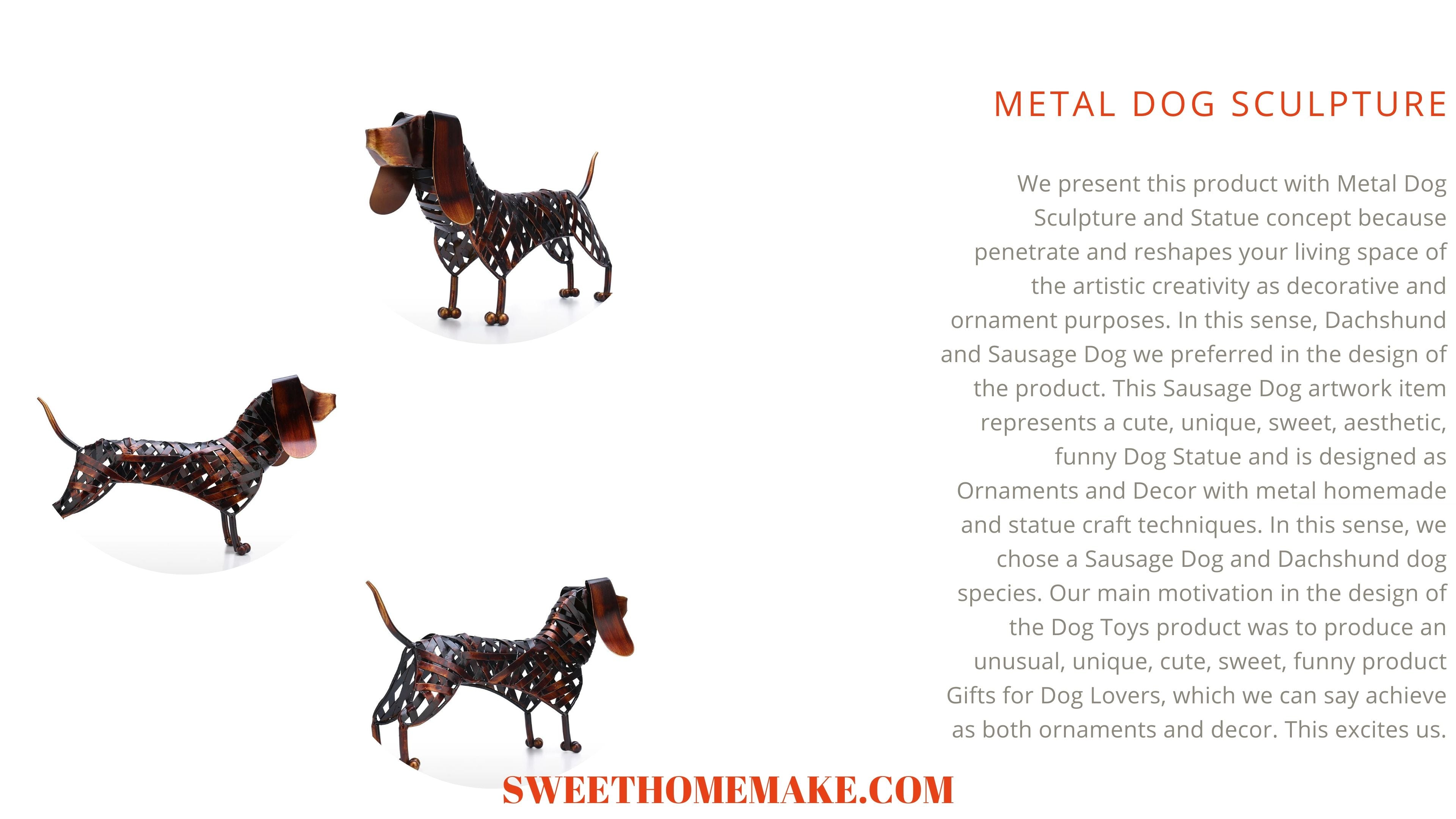 Metal Dog Sculpture a work of Art says Something and Produces a Feeling