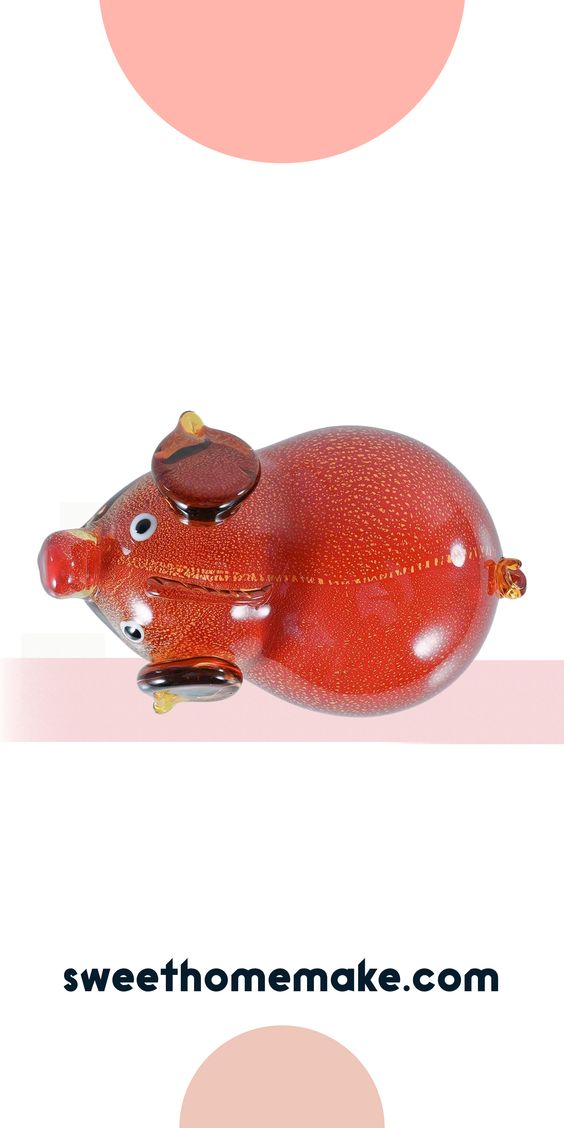 Modern Farmhouse Decor For Kitchen or Living Room with Pig Figurine
