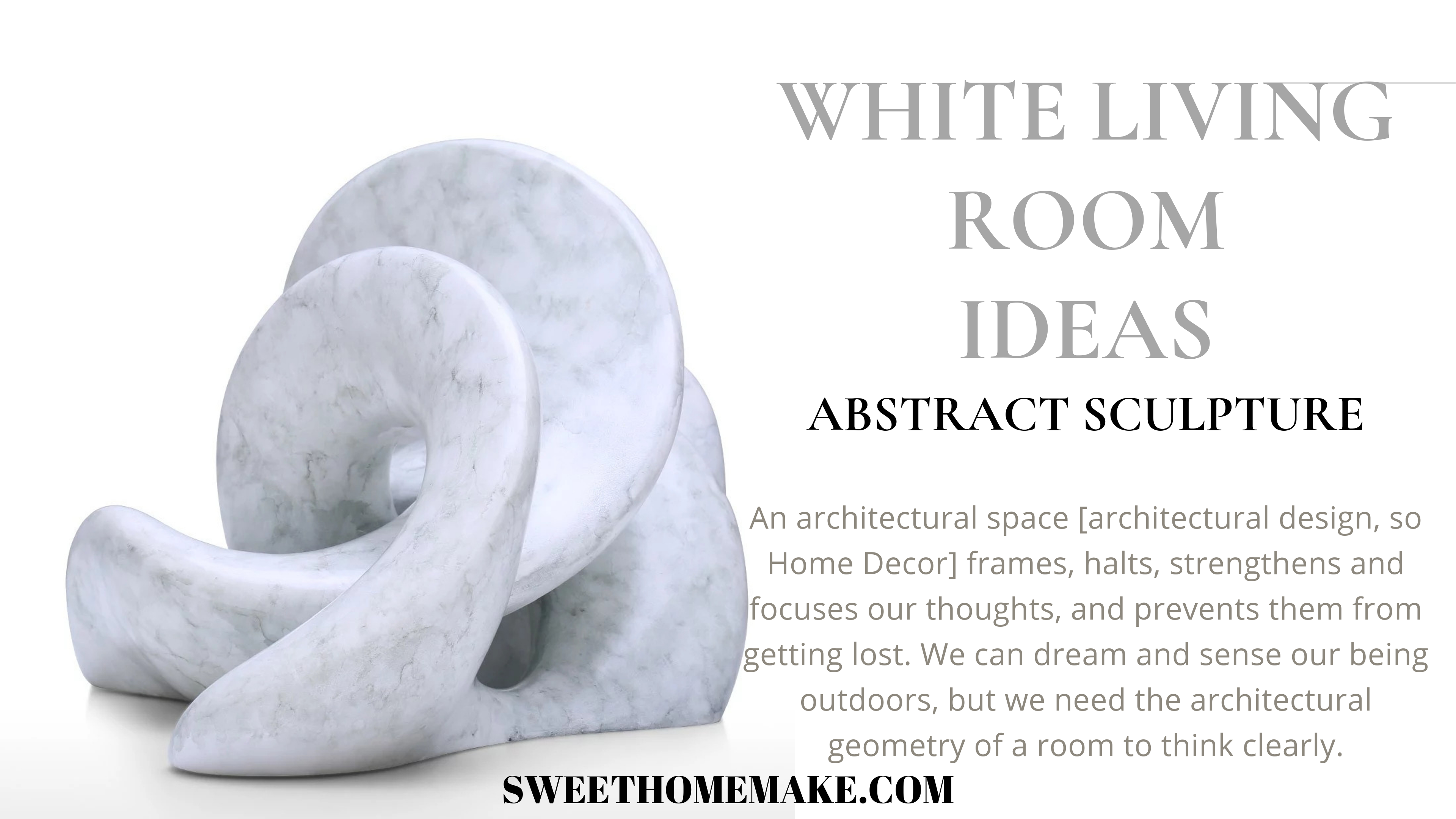 Modern Living Room Ideas by White Home Decor Abstract Sculpture