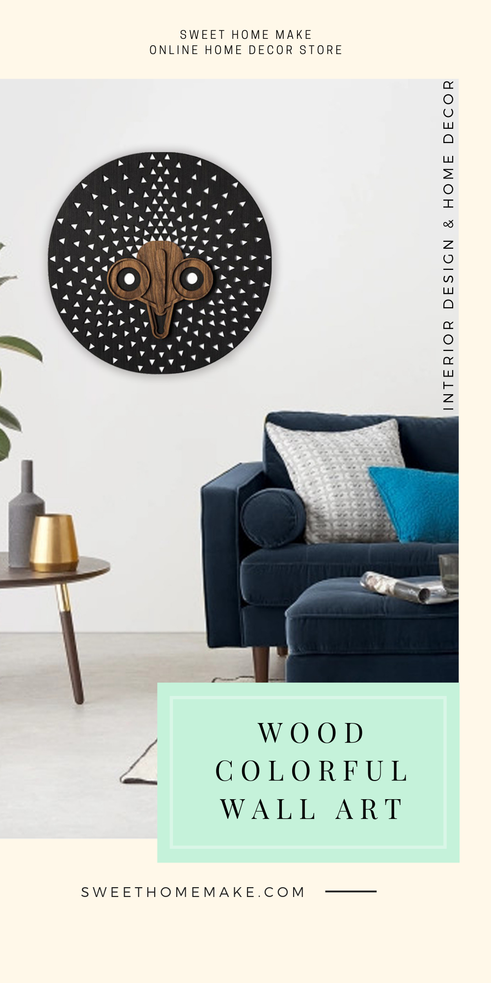 Modern Wall Decor with Black Wood Wall Art
