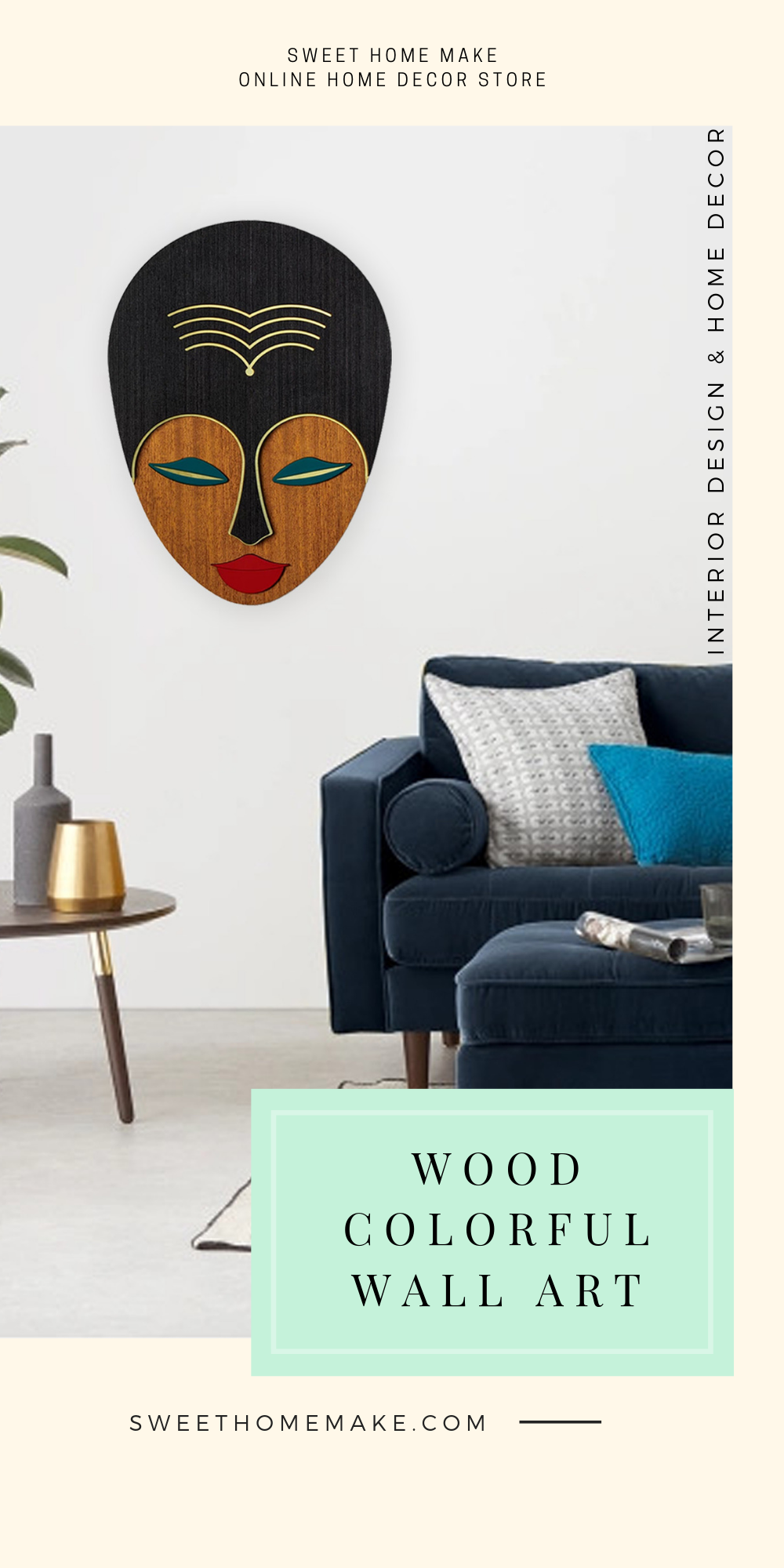 Modern Wall Decor with Female Wood Wall Art