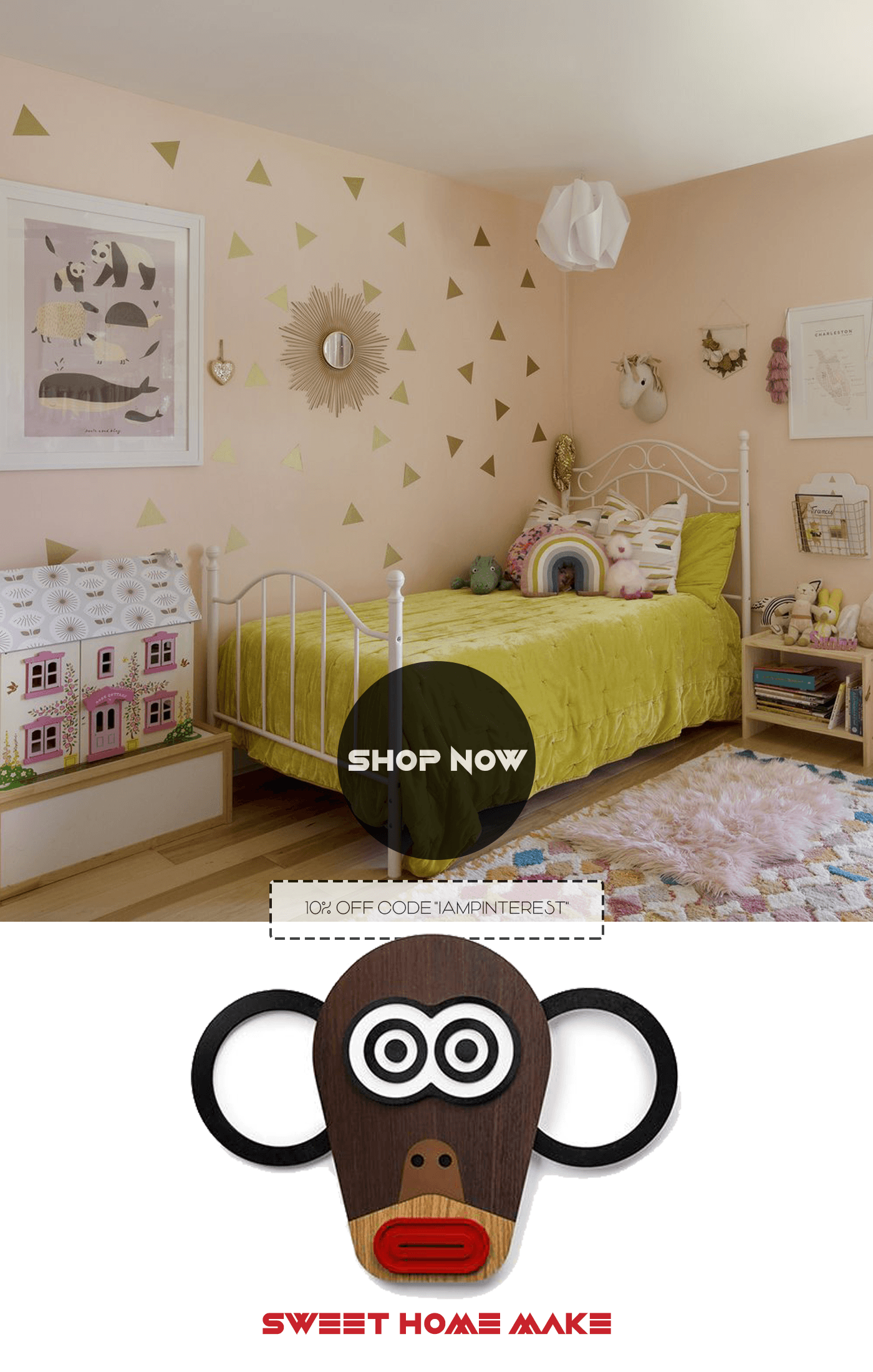 Monkey Kids Wall Art