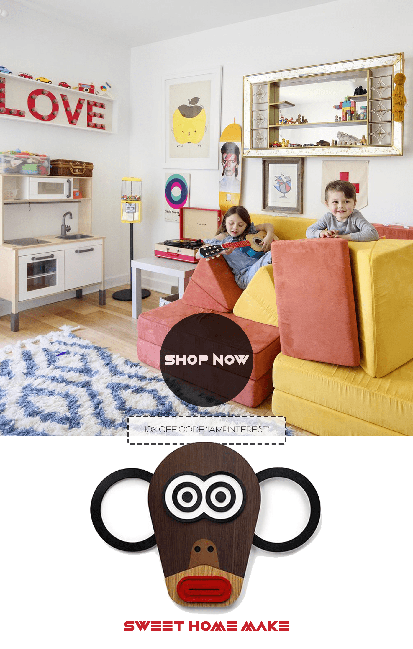 Monkey Wall Art for Kids