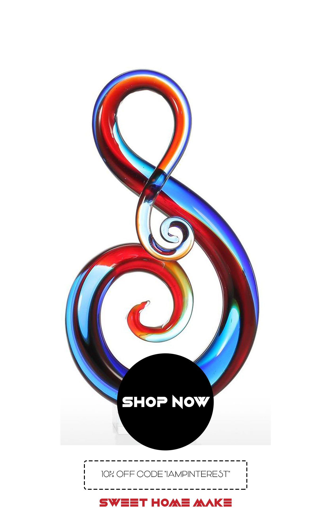 Music Note Symbol Art Glass Sculpture From Online Home Decor Store
