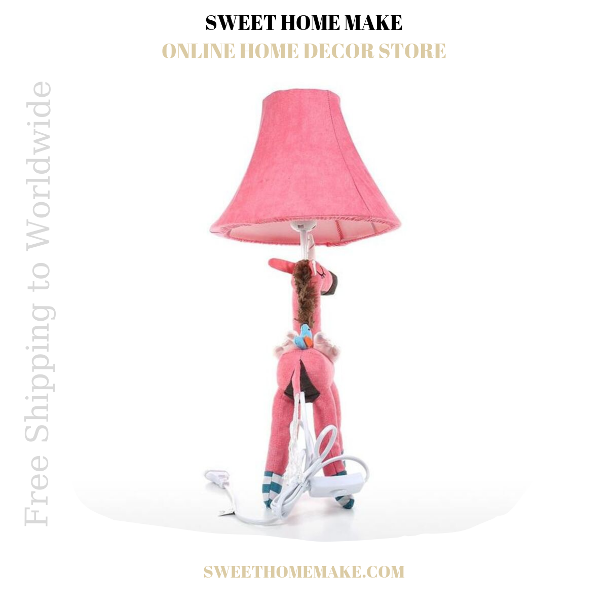 Pink Nursery Lamp For Night Light and Table Lamp
