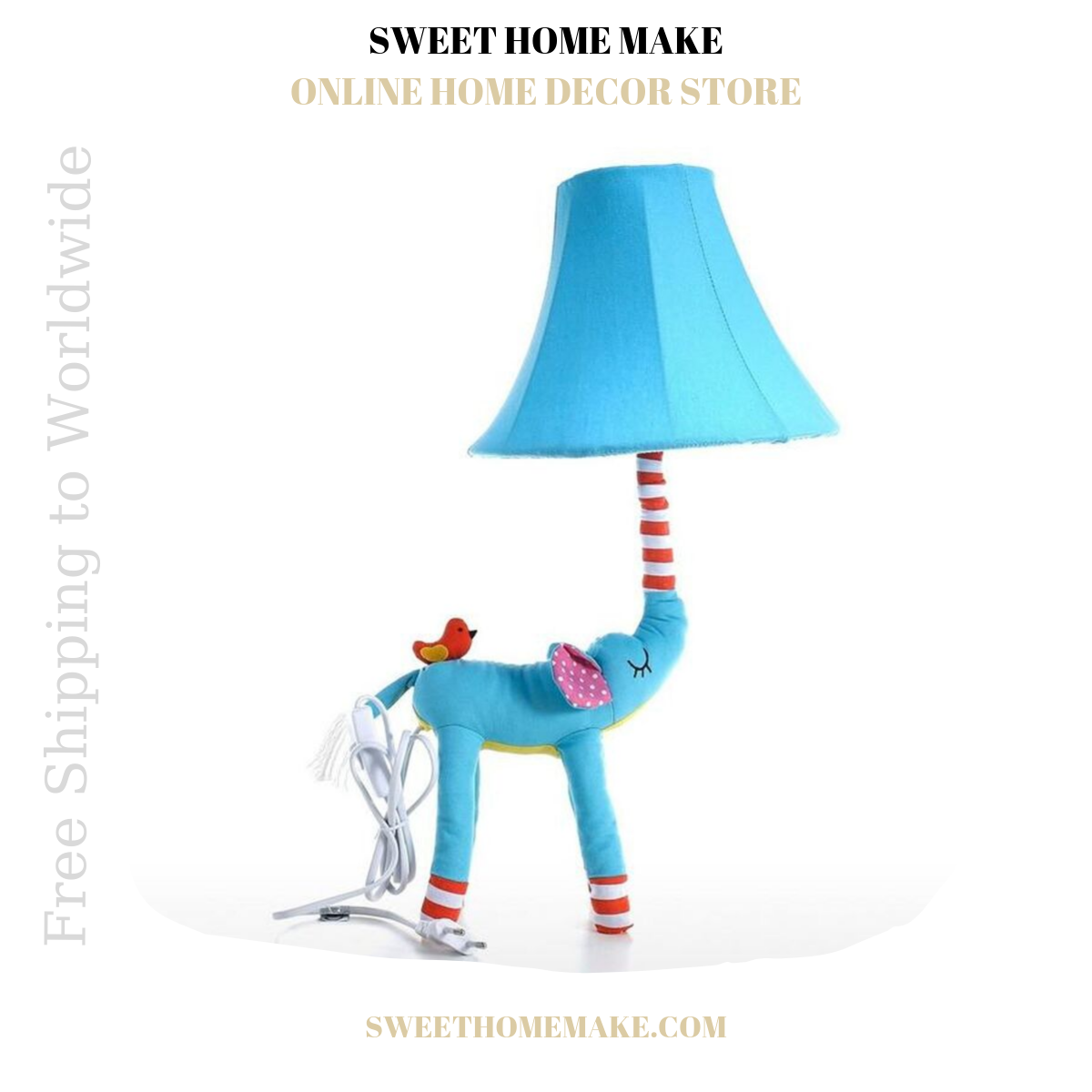 Nursery Lamp For Night Light and Table Lamp Elephant
