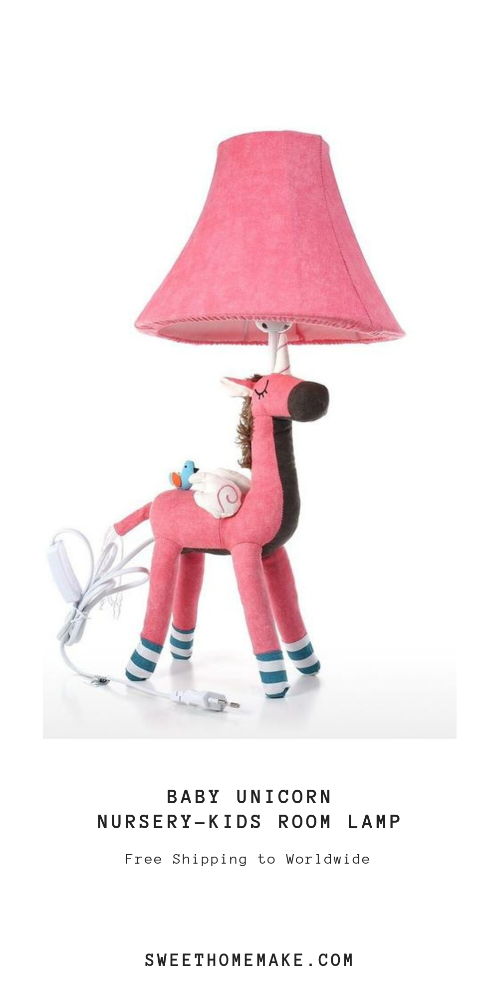 Nursery Lamp with Unicorn
