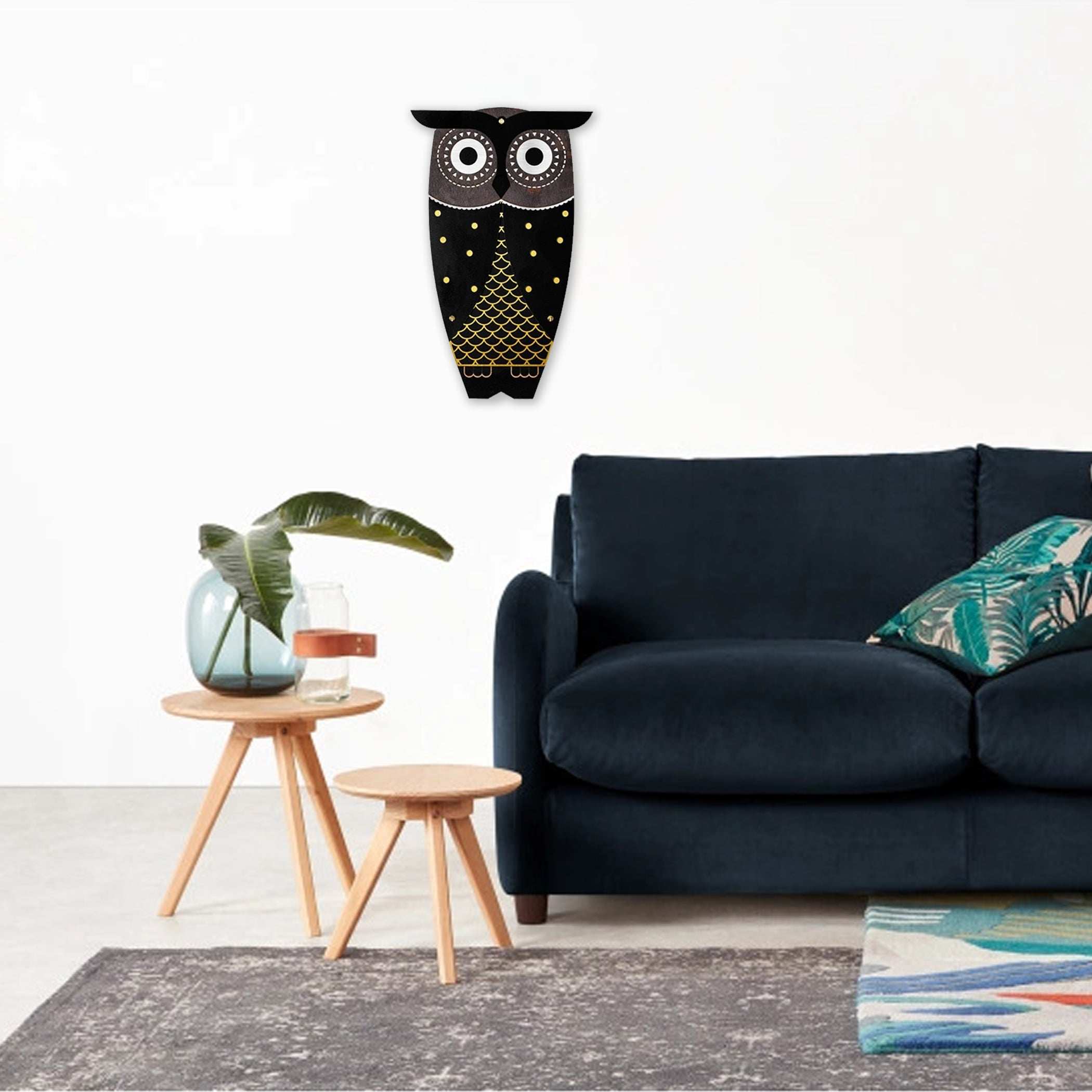 Owl Wall Decor with Wooden Wall Art