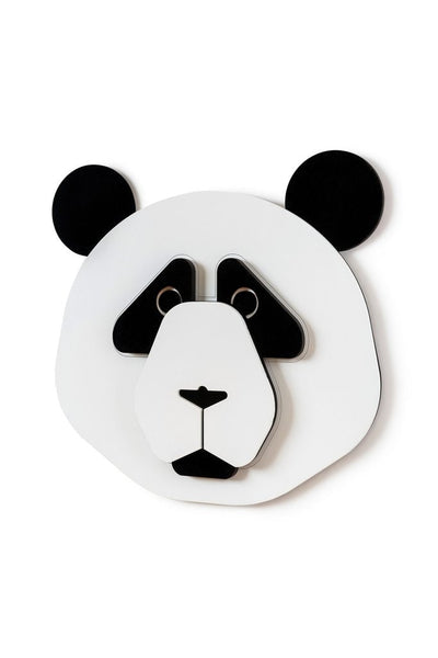 Panda Head and Panda Facts for Kids with Wall Art Decor