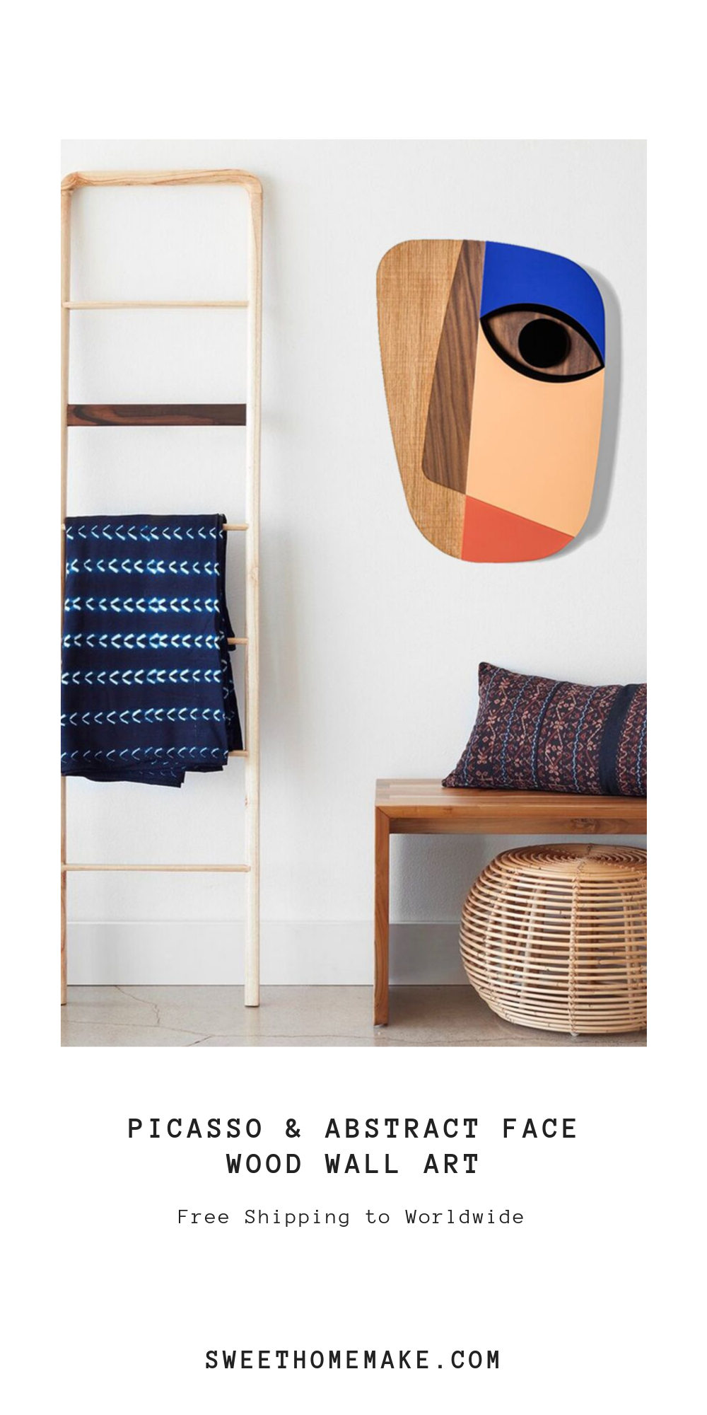 Picasso Face by Wood Wall Art