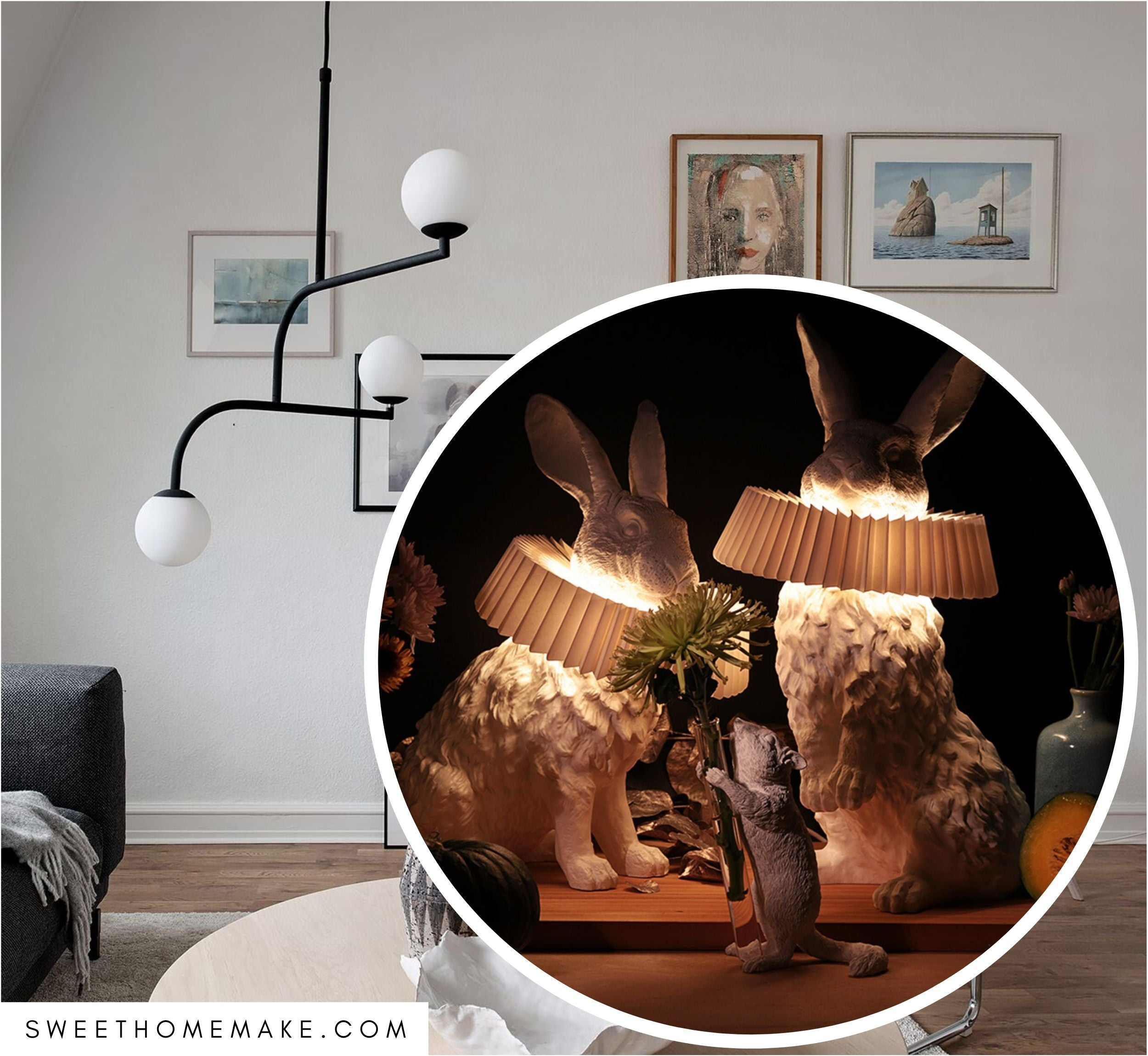Rabbit Lamp to Sculpture Home Decor