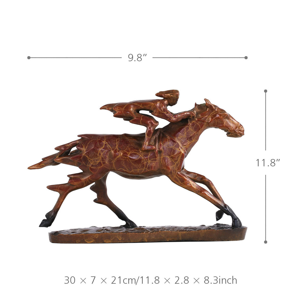 Race Horse Statue with Horse Racing