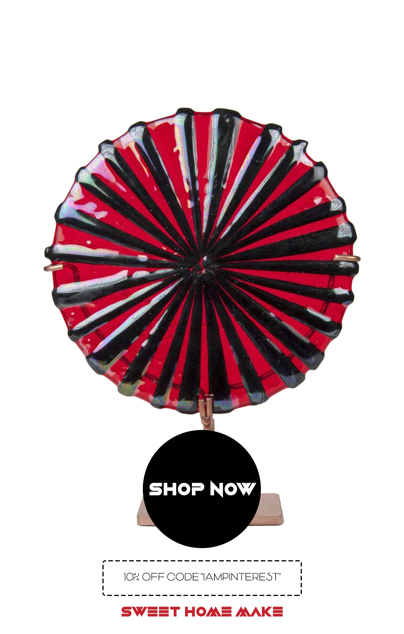 Red Glass Sculpture From Online Home Decor Store