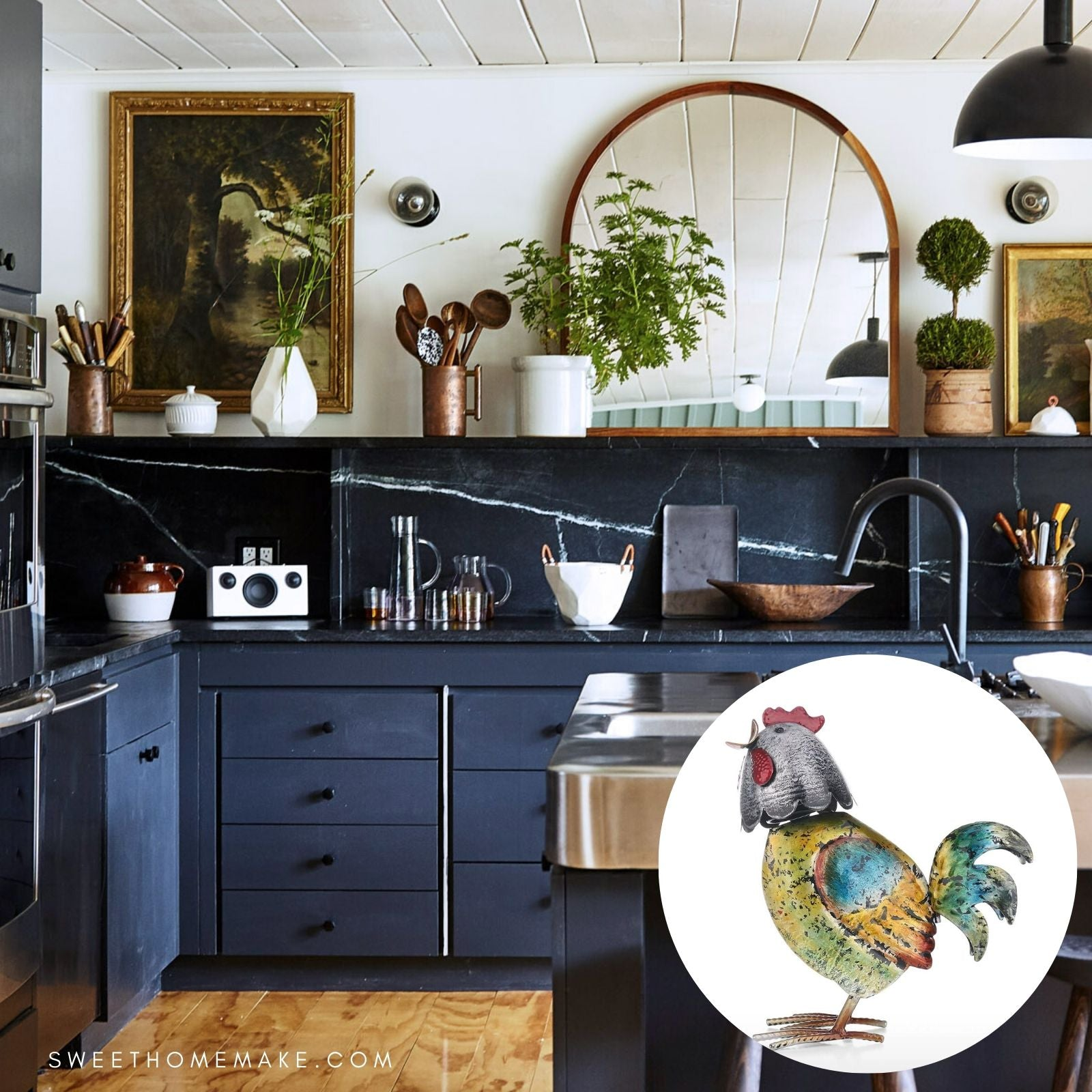 Rooster Statue for Kitchen Decor Ideas