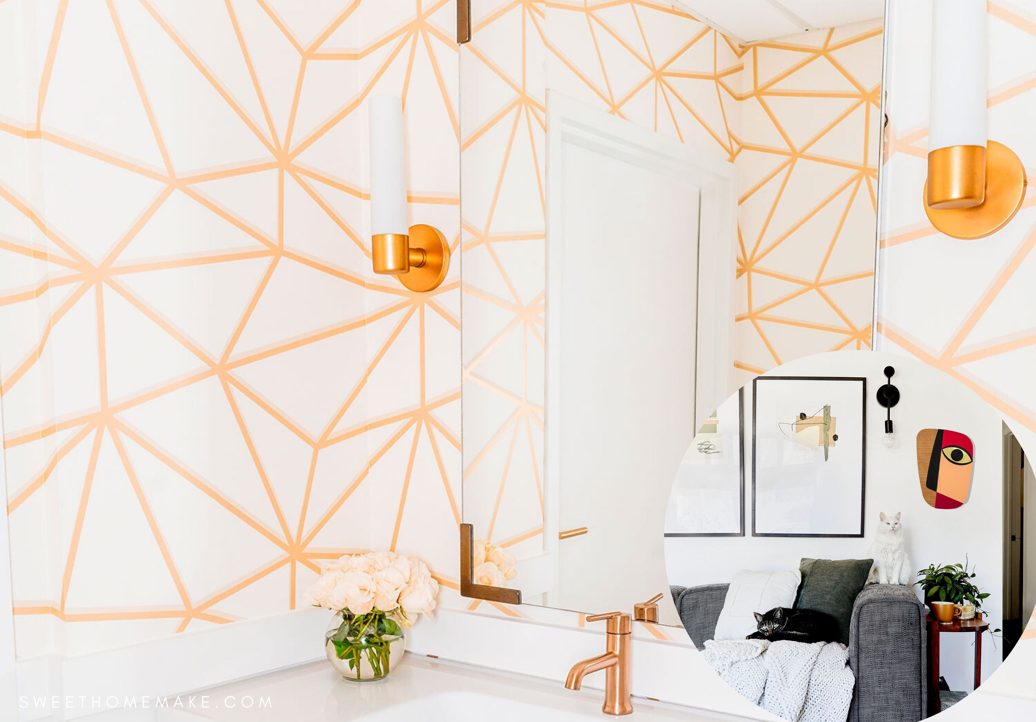 Rose Gold Wall Decor