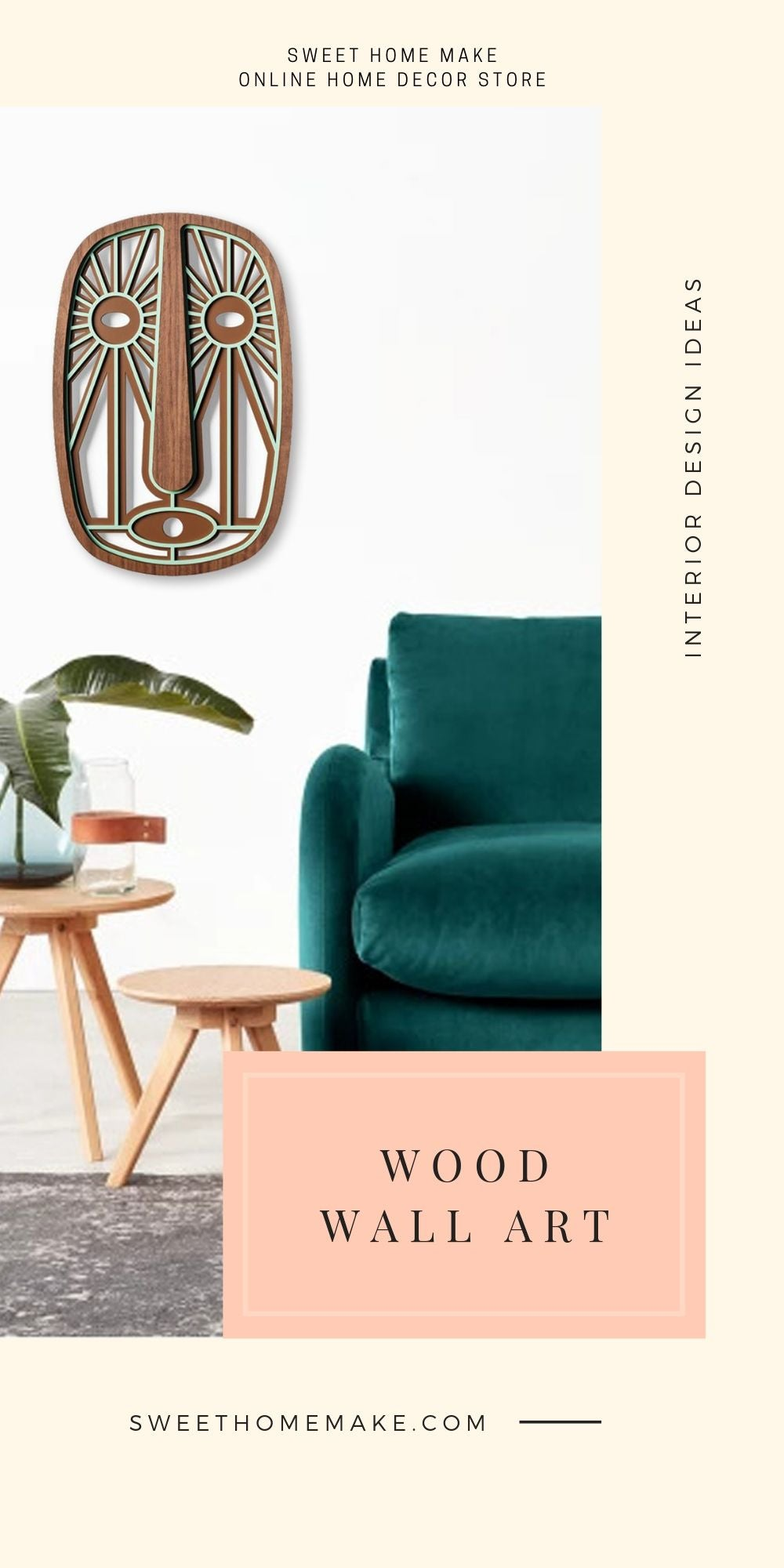 Scandinavian Wall Decor with Wood Wall Art