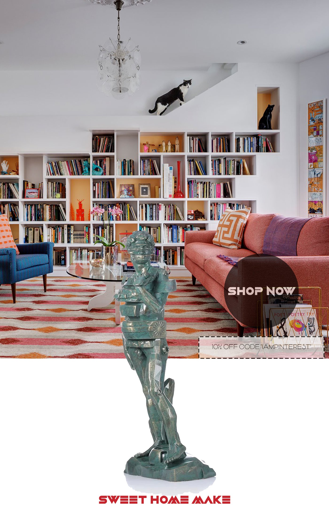 Statue of David For Bookcase Decor