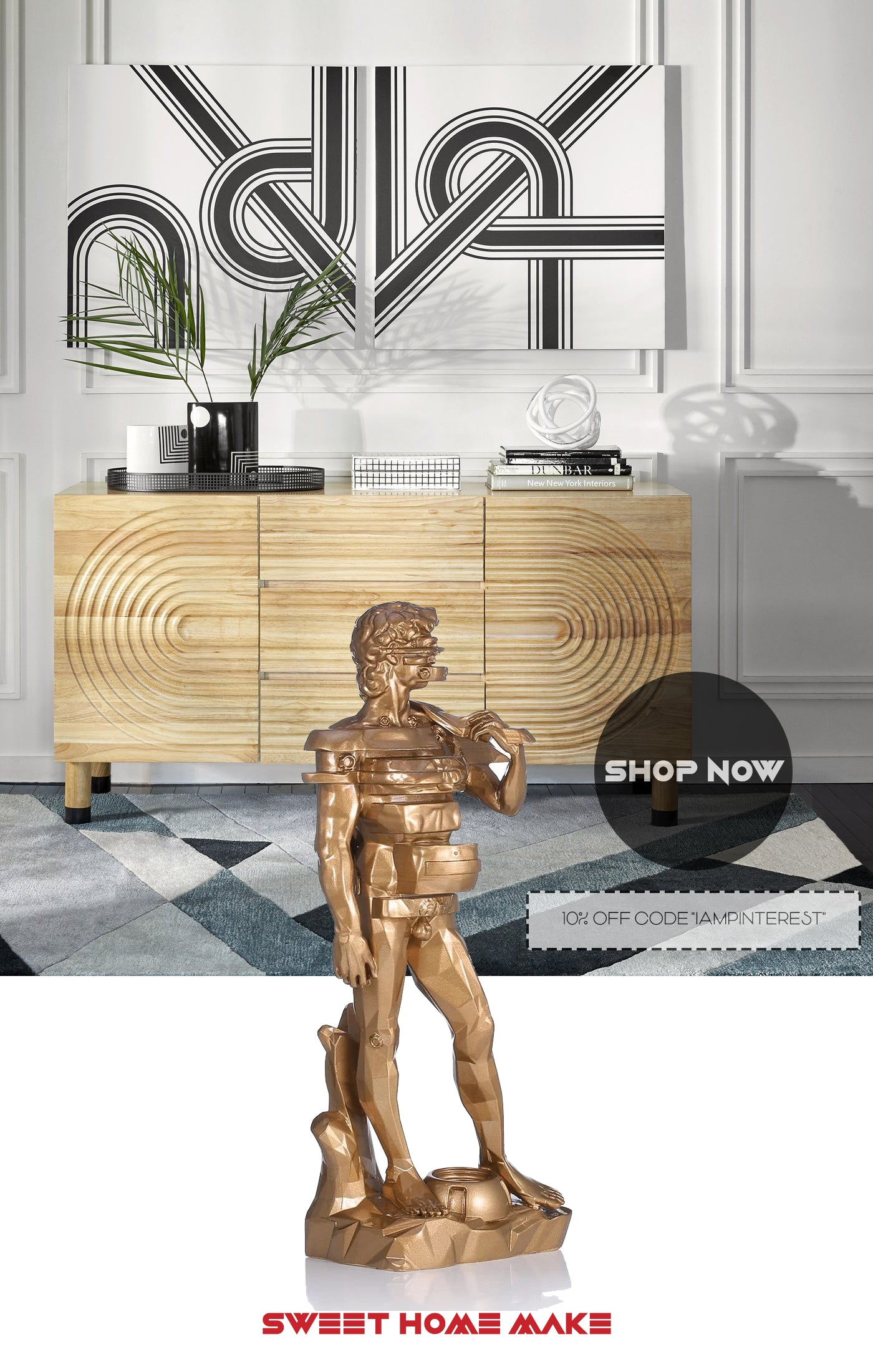 Statue of David For Entryway Console Decor