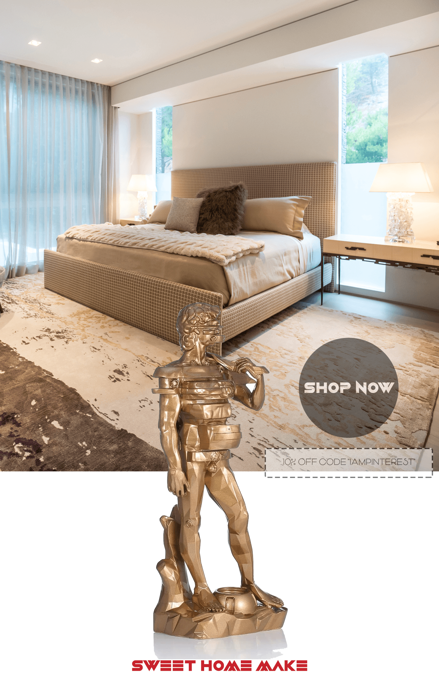 Statue of David for Bedroom Decor