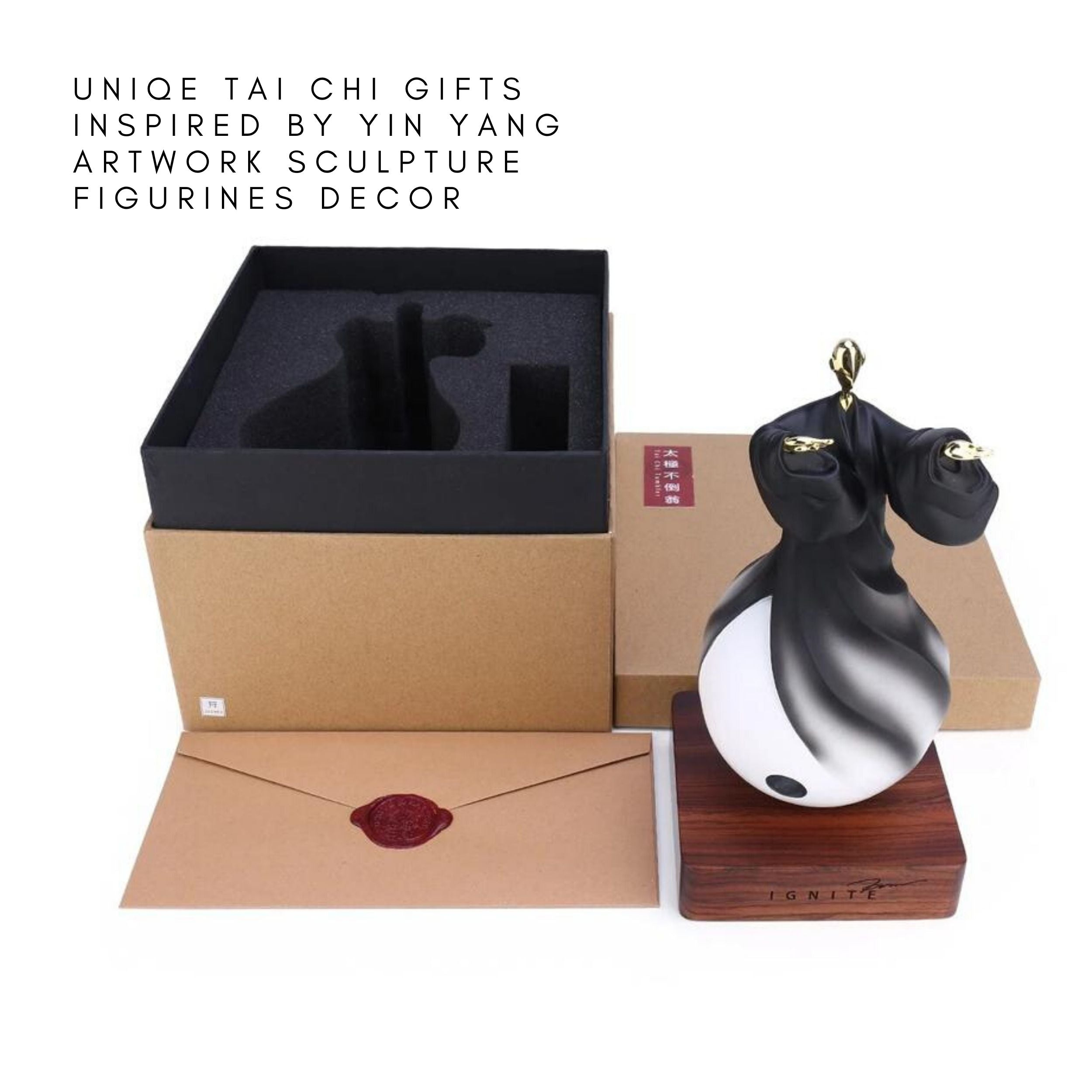 Tai Chi Gifts inspired by Yin Yang Artwork Sculpture Figurines Decor