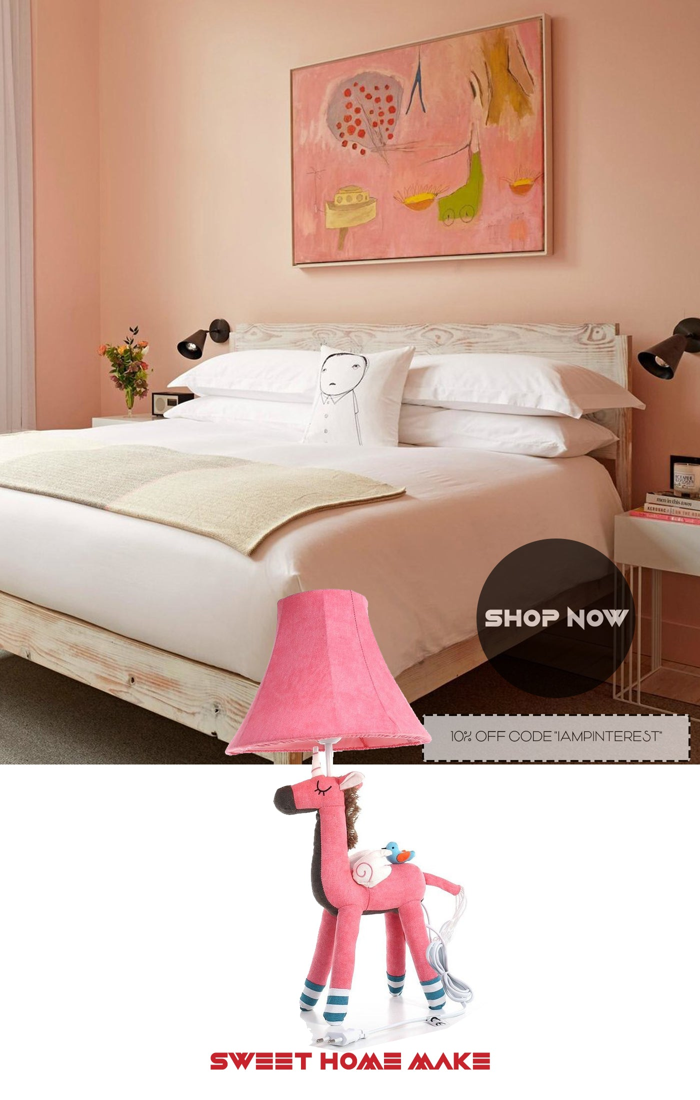 Unicorn Toys with Pink Table Lamp For Bedroom Girl Decor