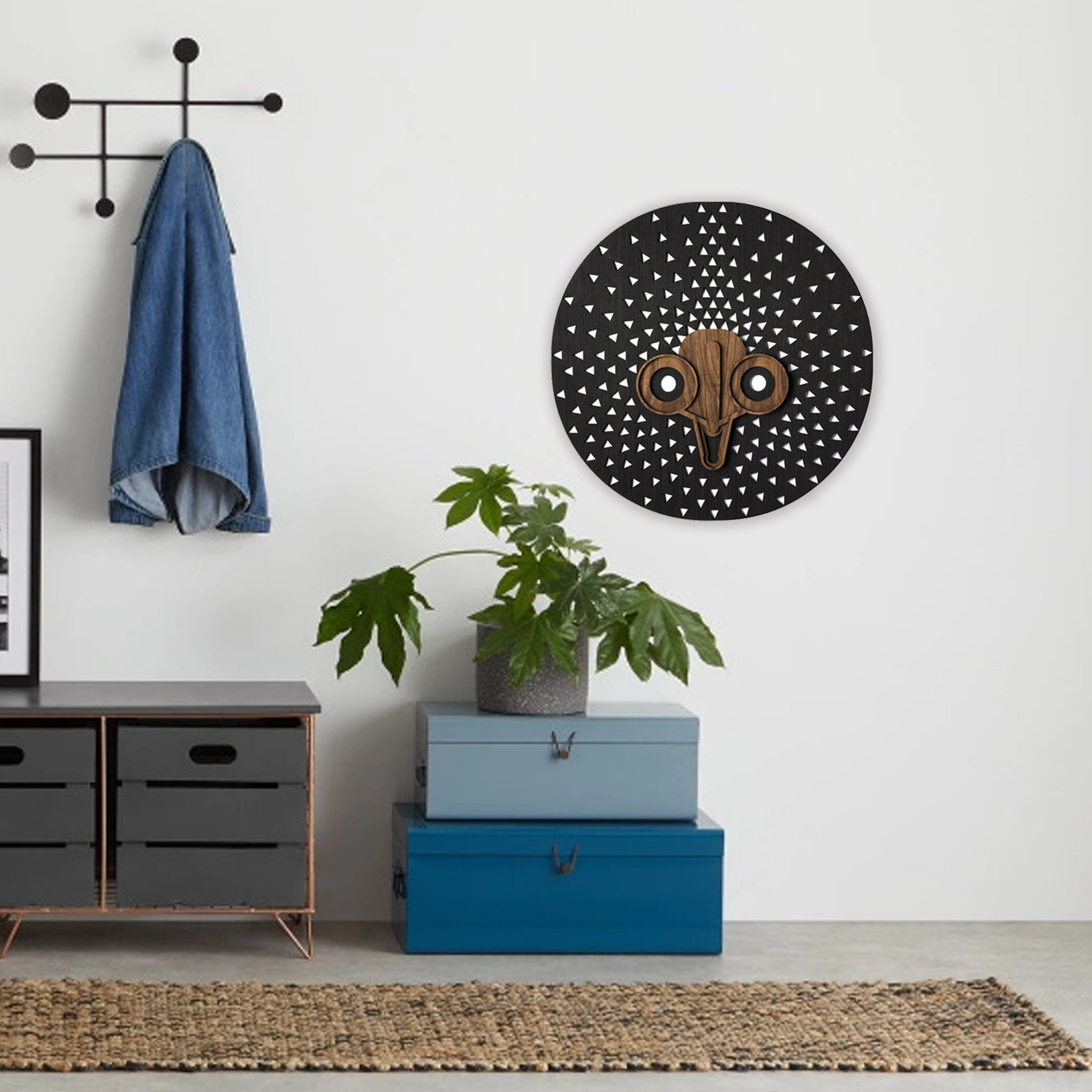 Wall Decor with Black Wall Hanging