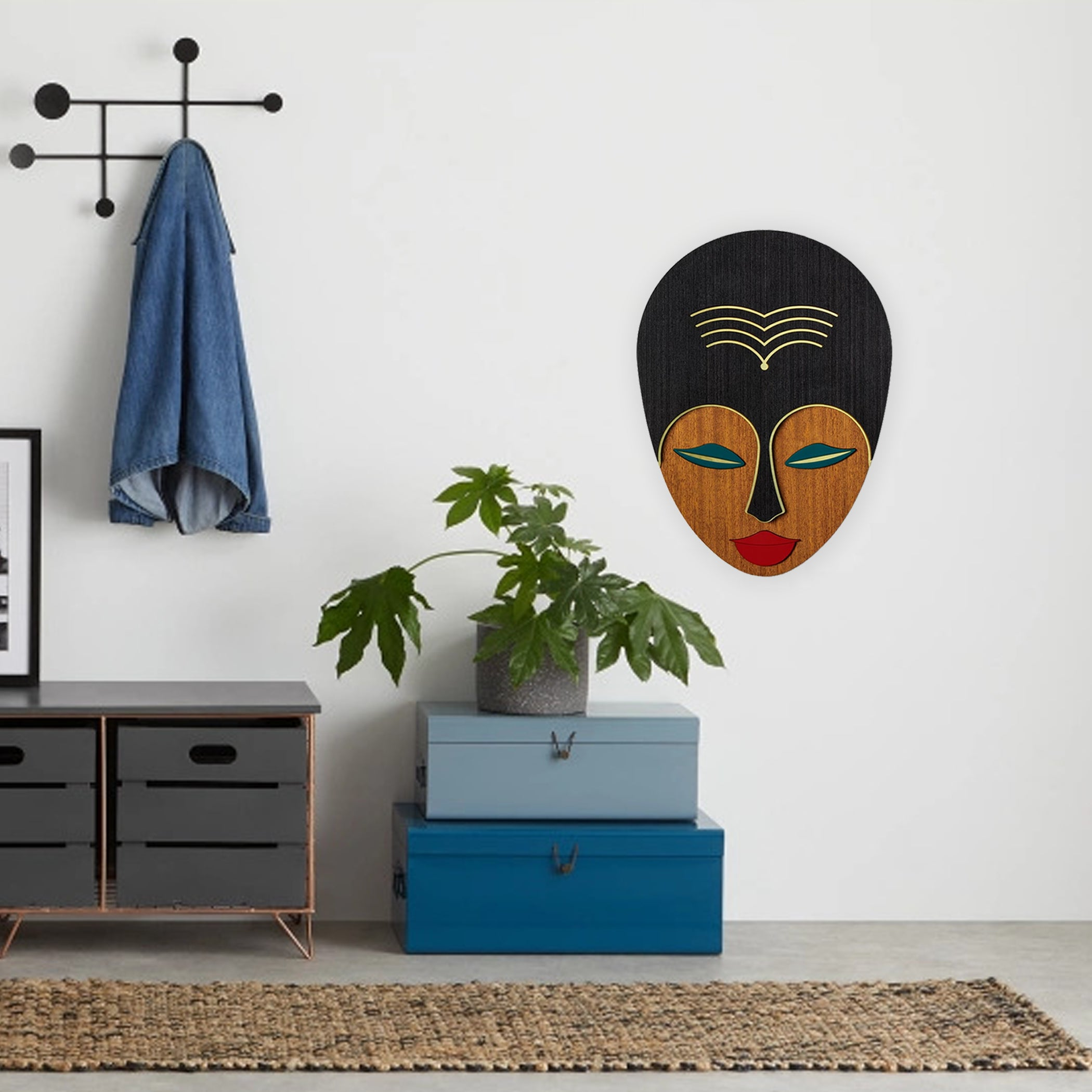 Wall Decor with Female Face