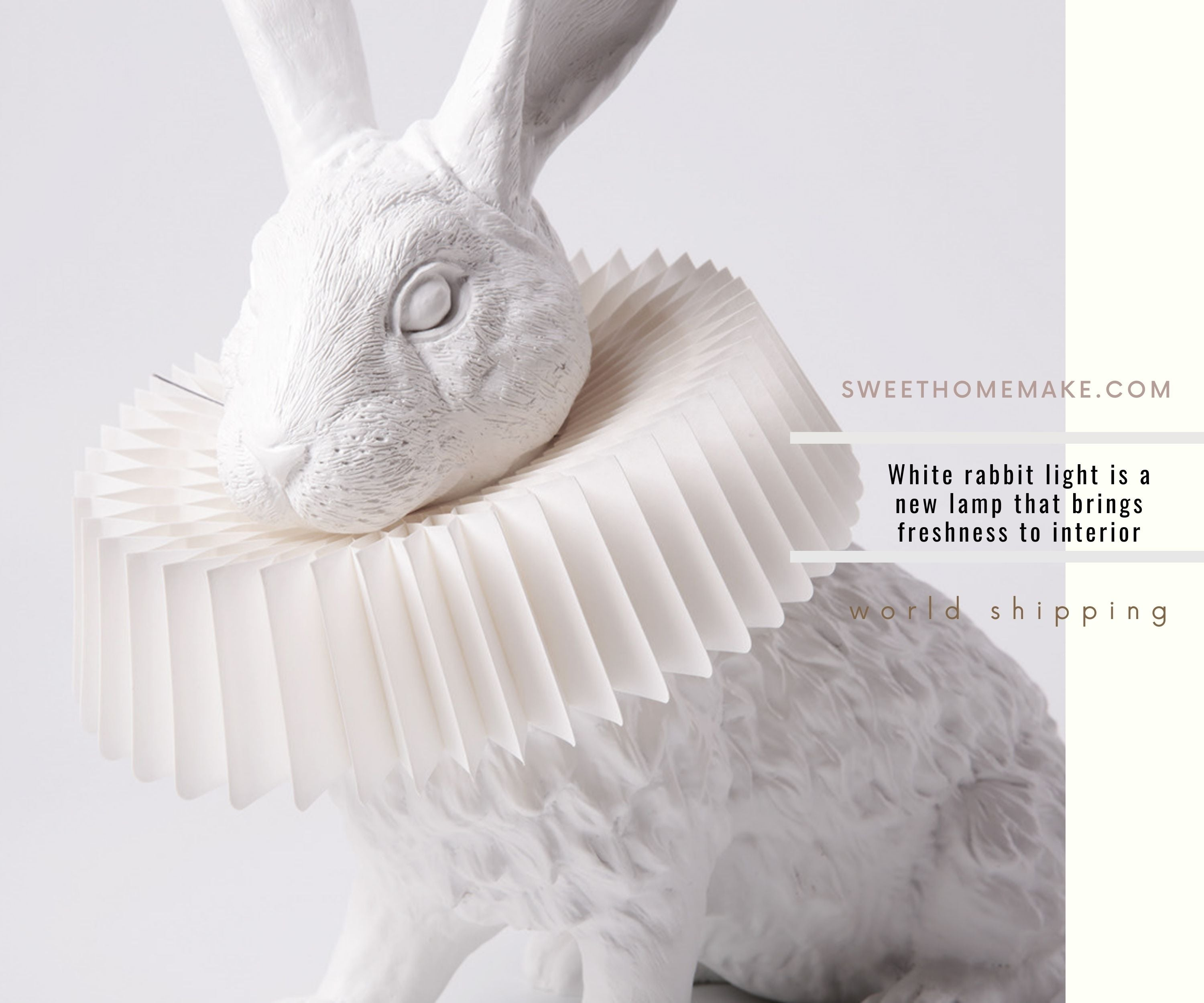 White rabbit light is a new lamp that brings freshness to interior